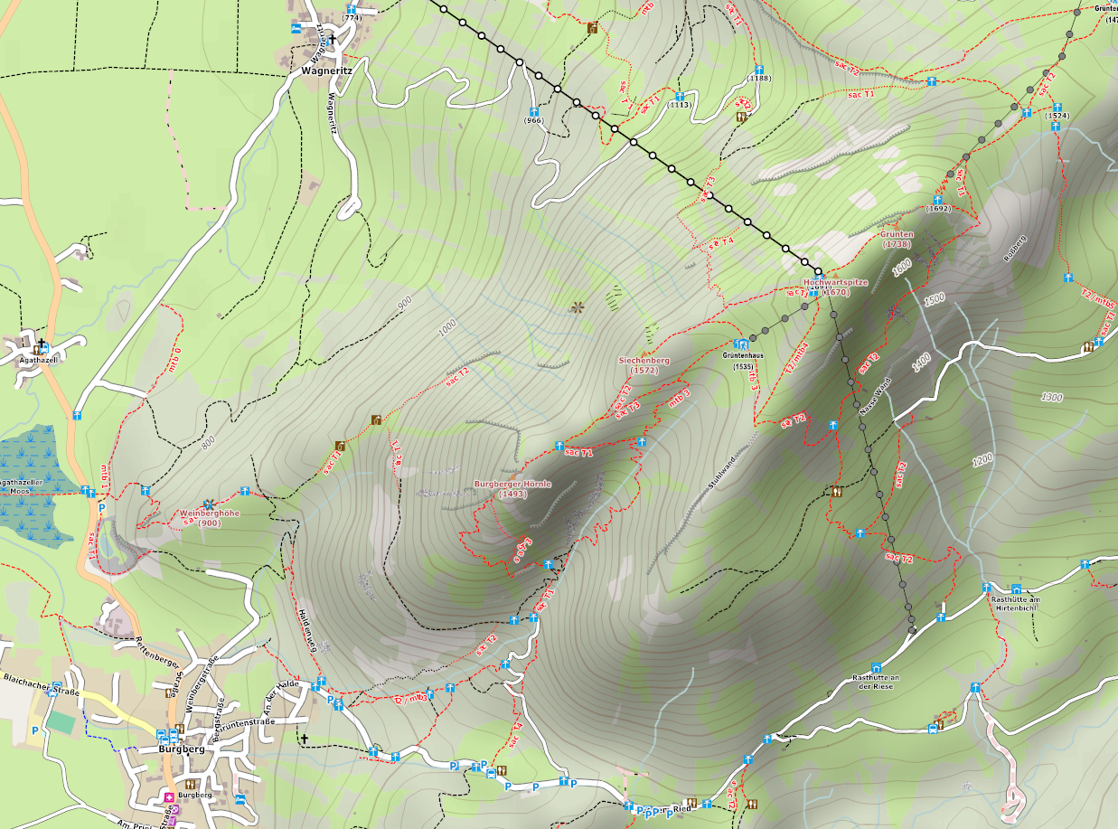 Online Outdoor hike mountain bike map