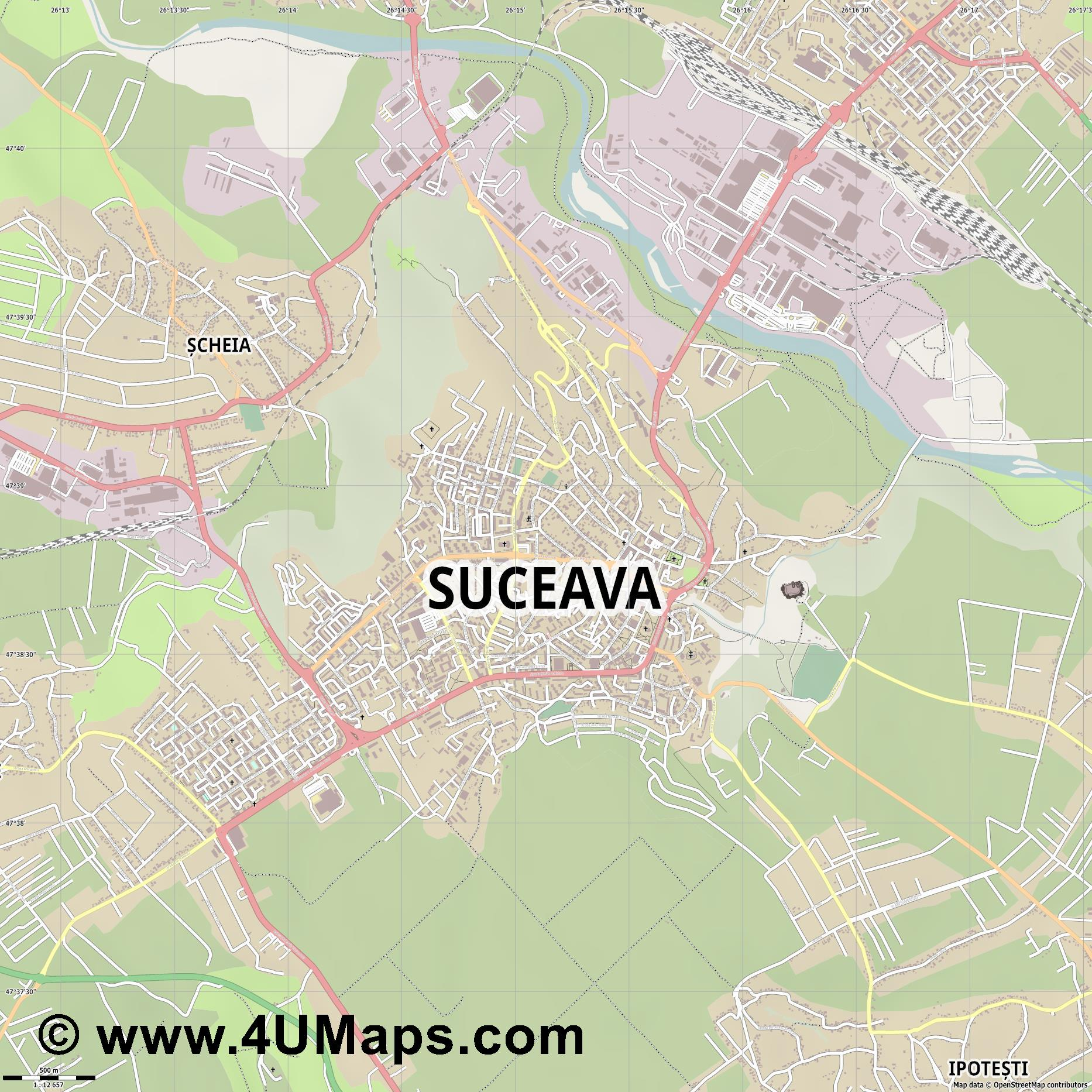 Svg Scalable Vector City Map Suceava