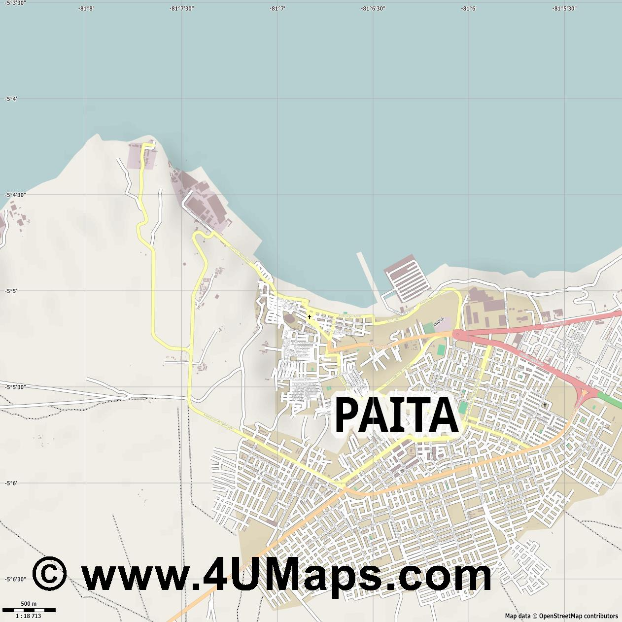 Paita  jpg ultra high detail preview vector city map