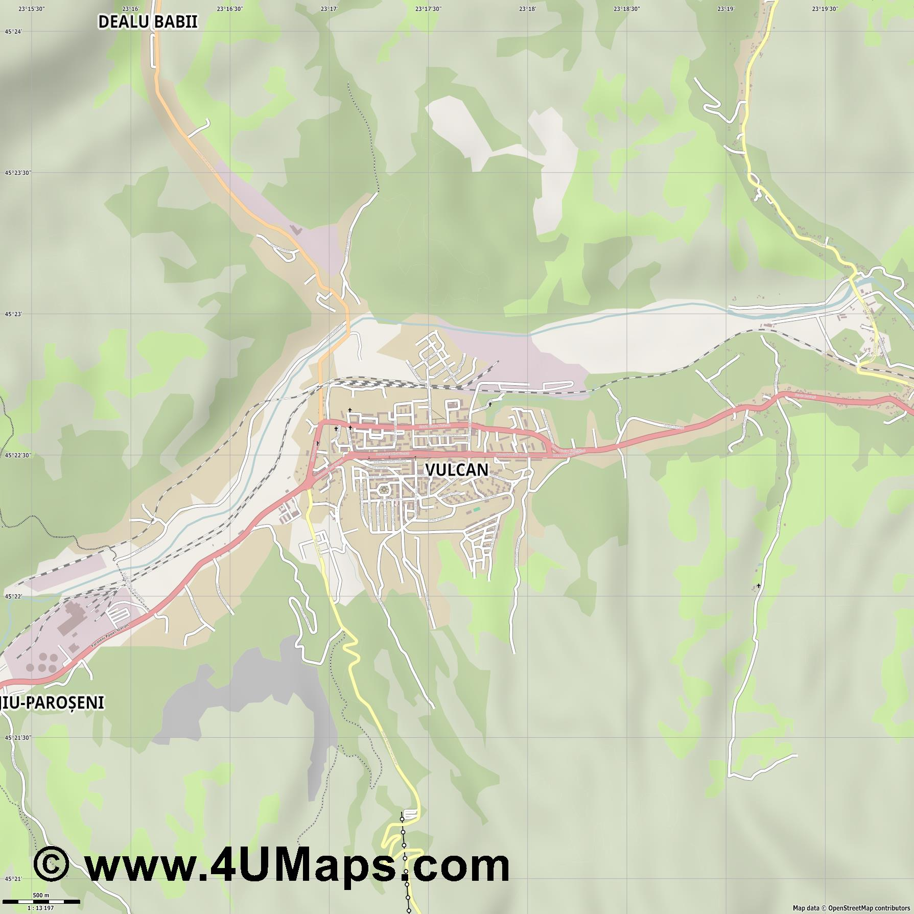 Vulcan Wolkersdorf  jpg ultra high detail preview vector city map