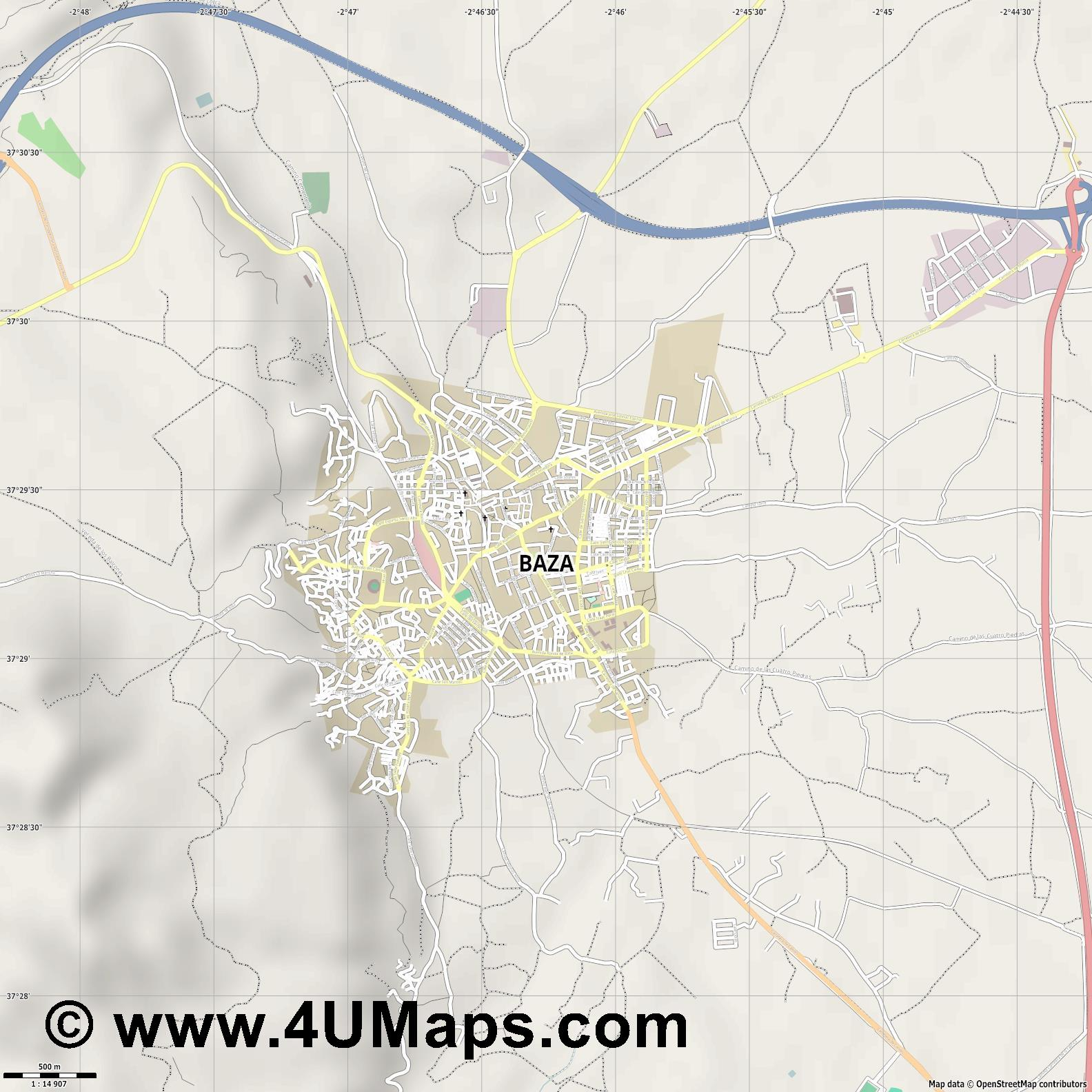 Baza  jpg ultra high detail preview vector city map