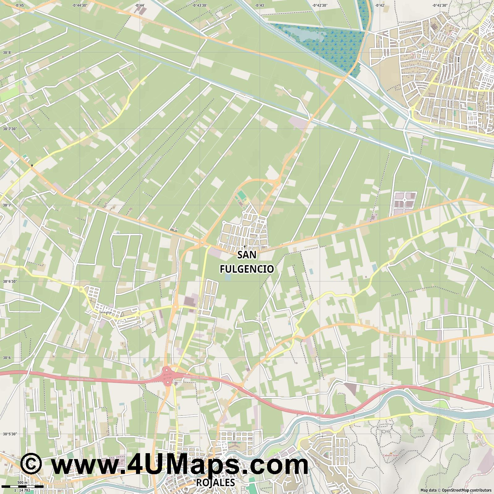 San Fulgencio  jpg ultra high detail preview vector city map