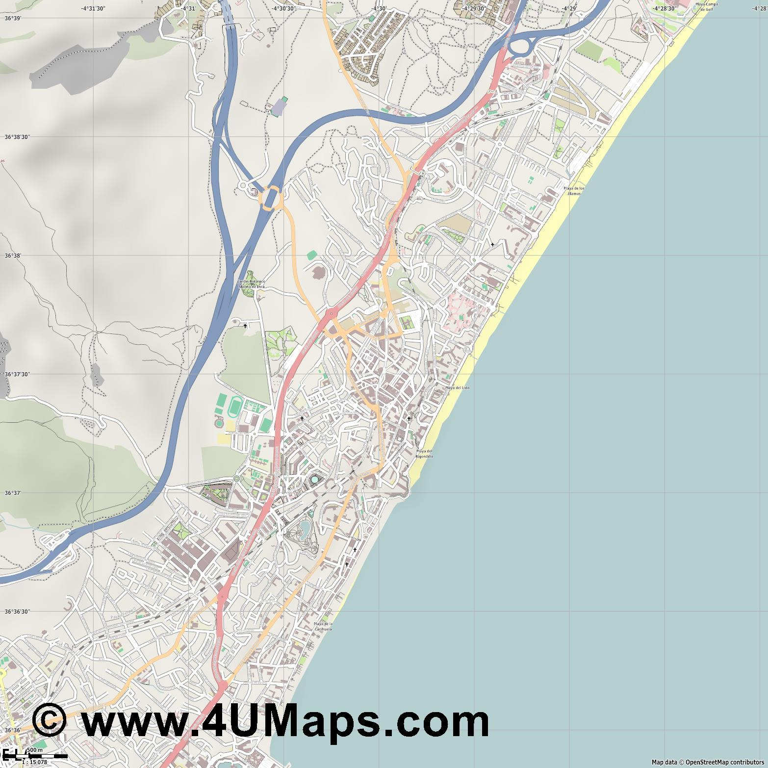 Torremolinos  jpg ultra high detail preview vector city map