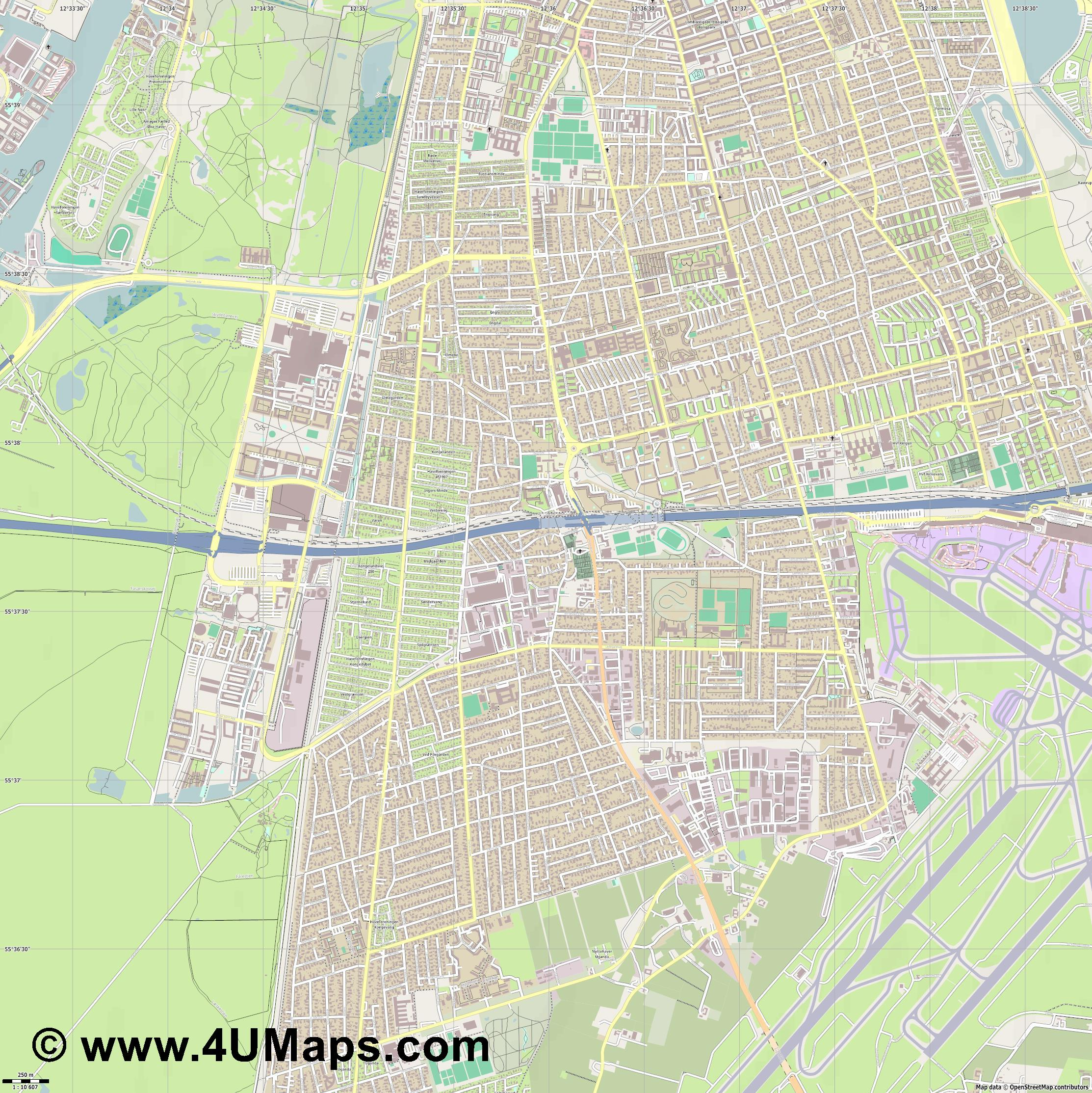 Tårnby Taarnby  jpg ultra high detail preview vector city map