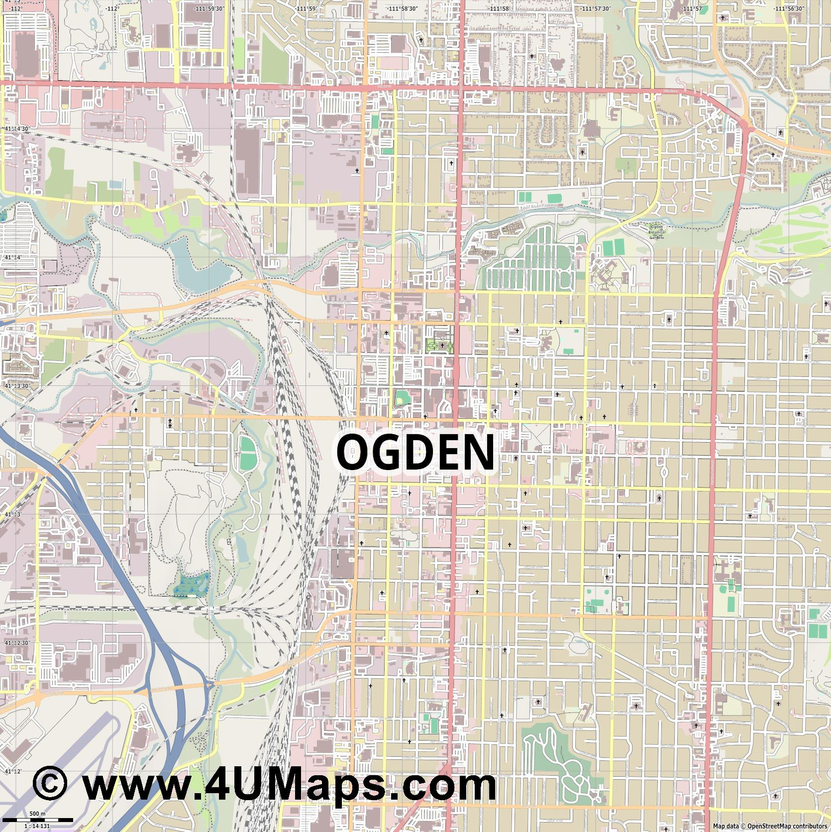 Ogden  jpg ultra high detail preview vector city map
