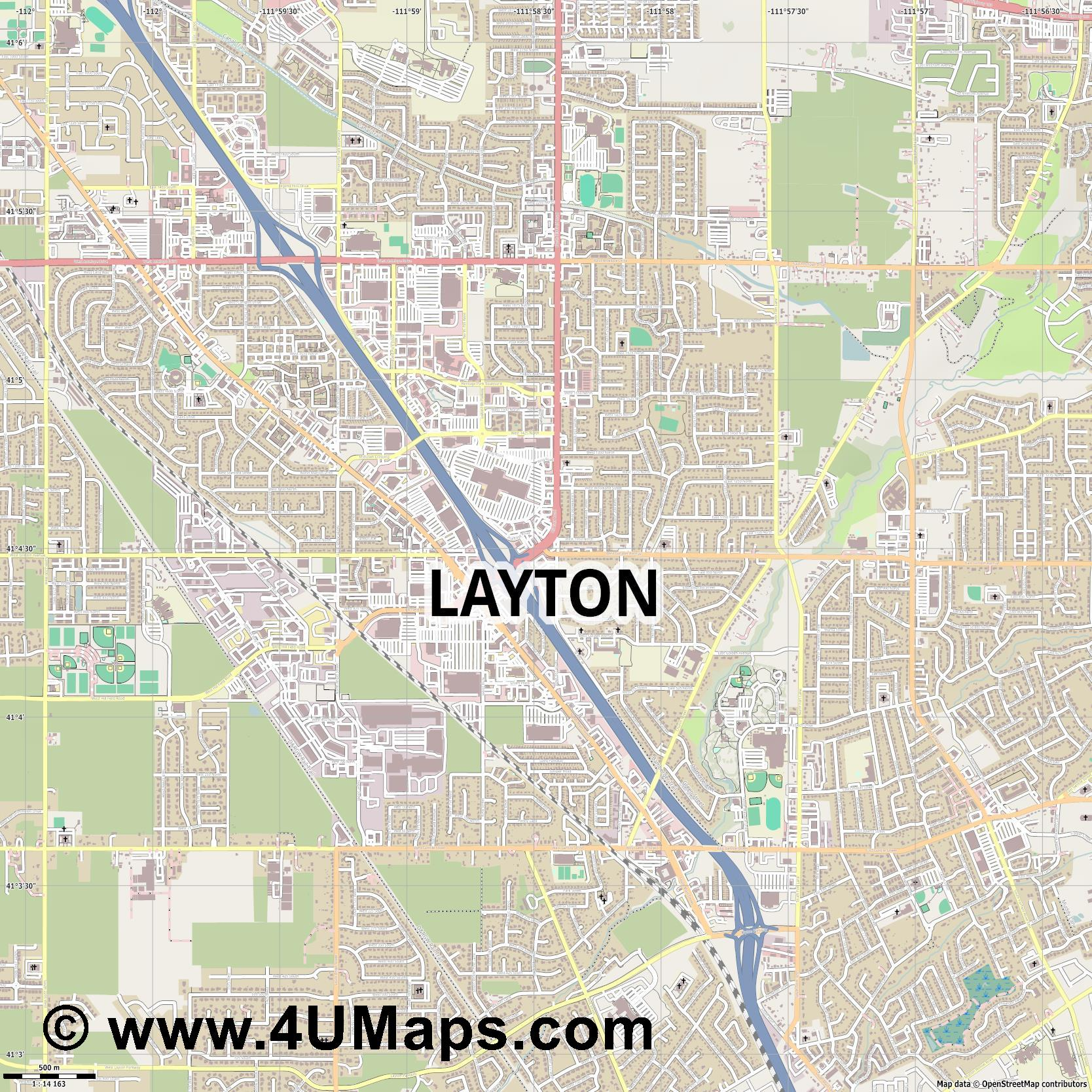 Layton  jpg ultra high detail preview vector city map