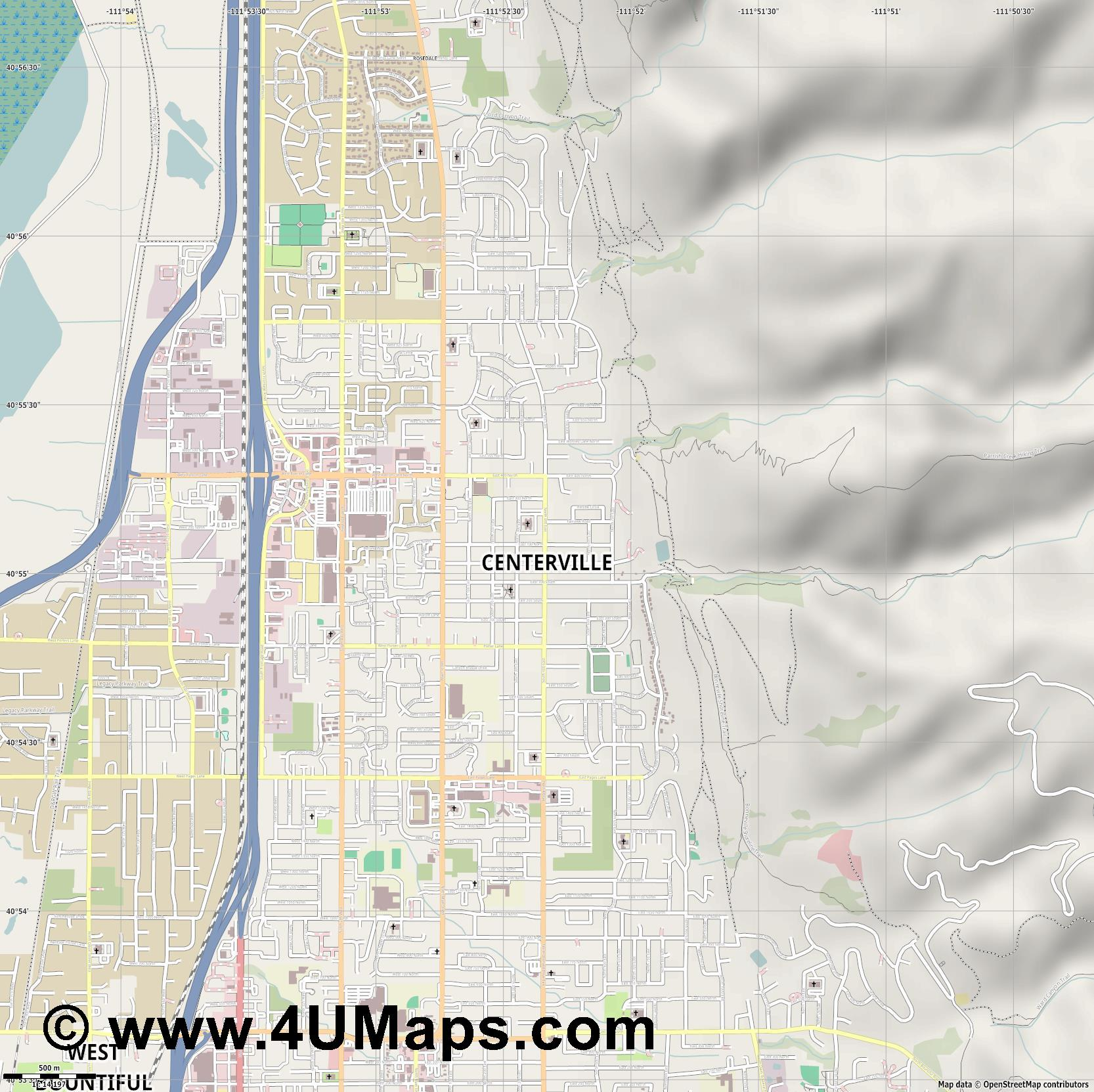 Centerville  jpg ultra high detail preview vector city map