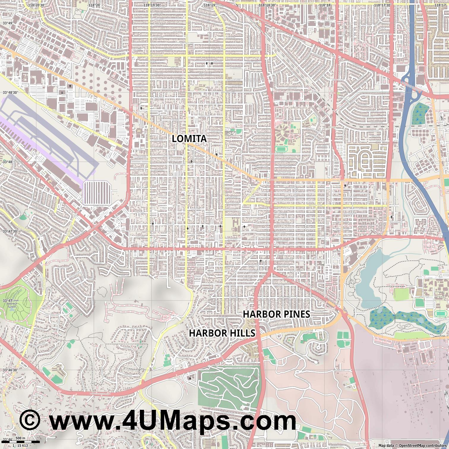 Lomita  jpg ultra high detail preview vector city map