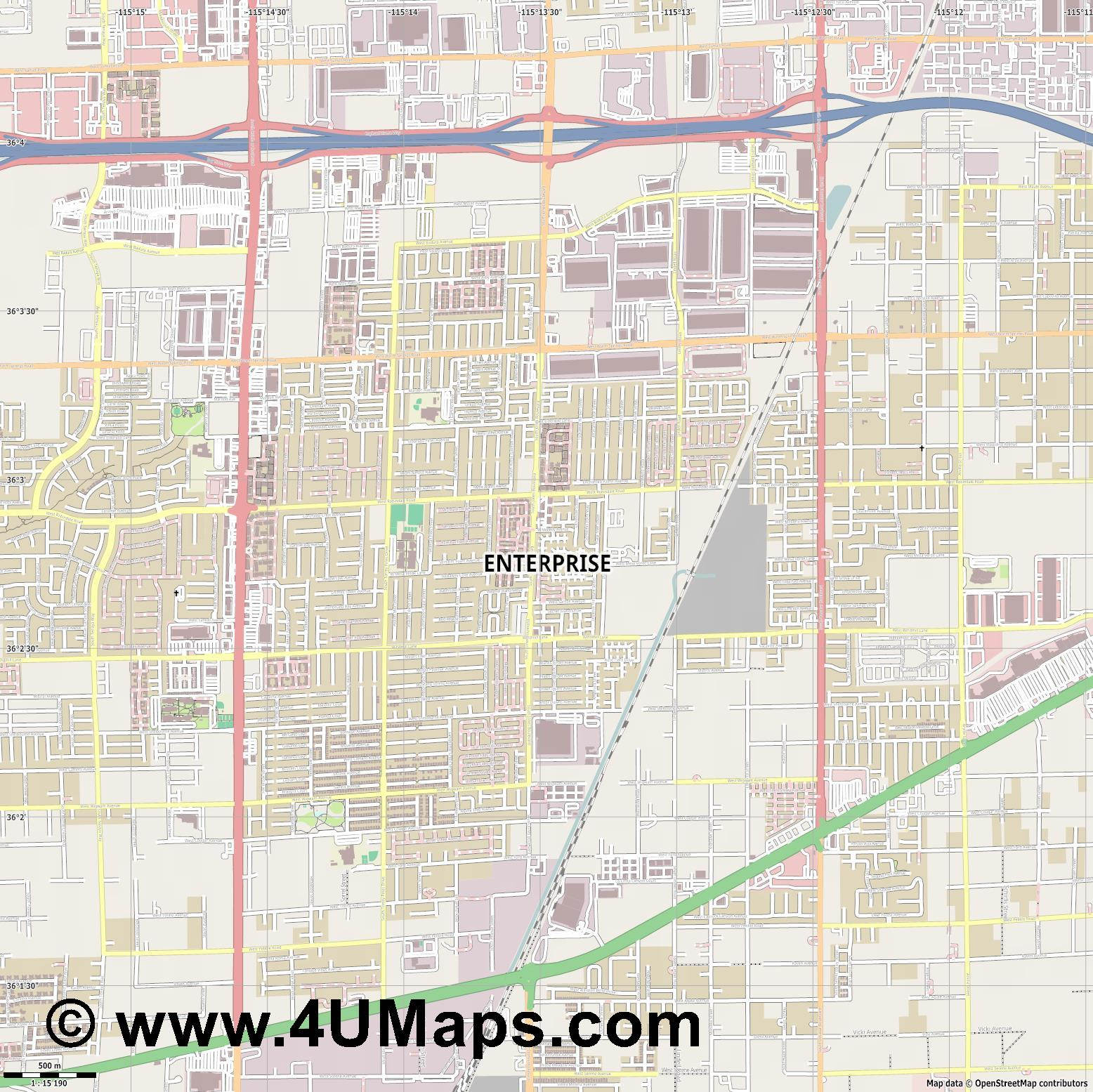 Enterprise  jpg ultra high detail preview vector city map