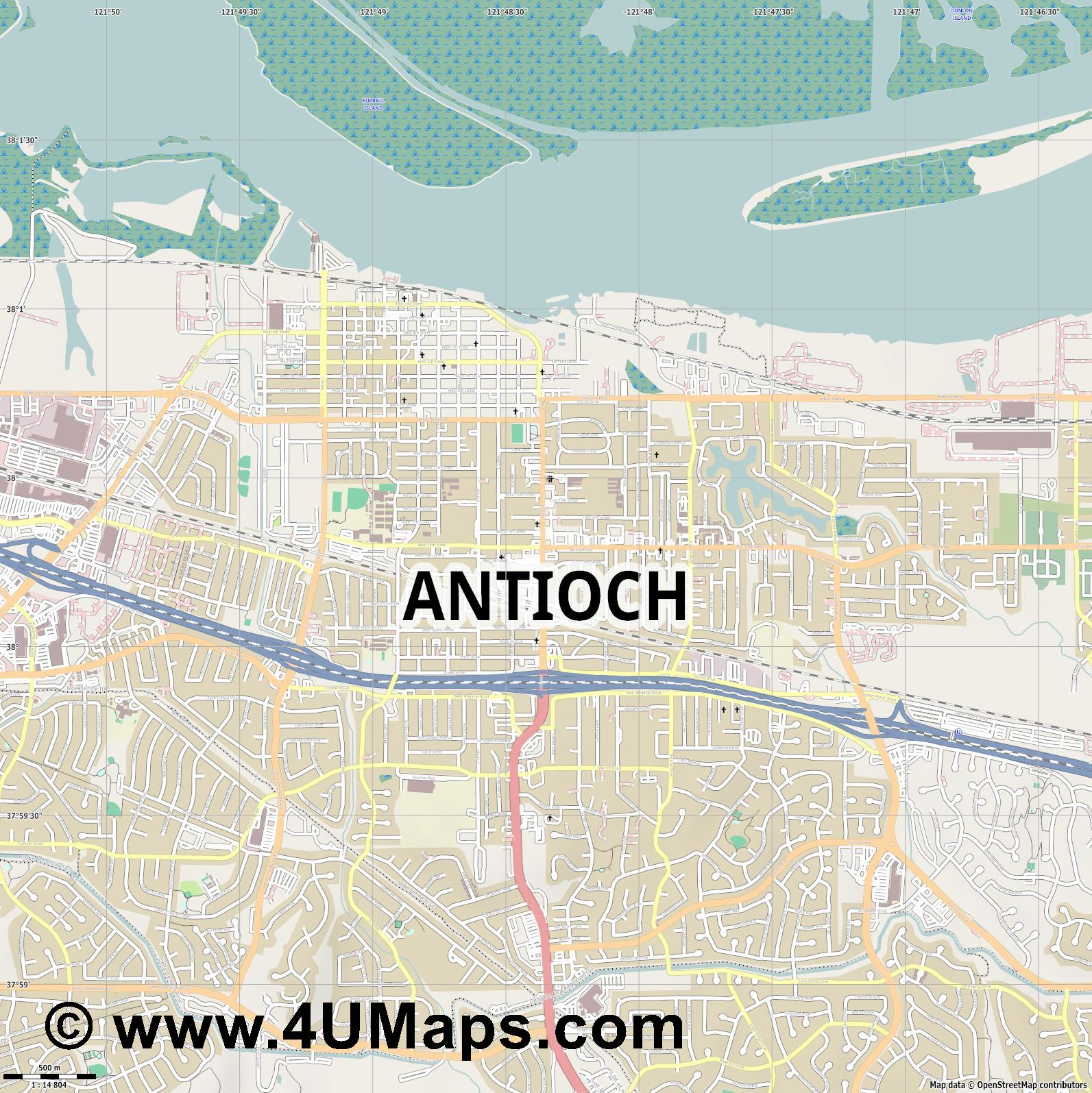 Antioch  jpg ultra high detail preview vector city map