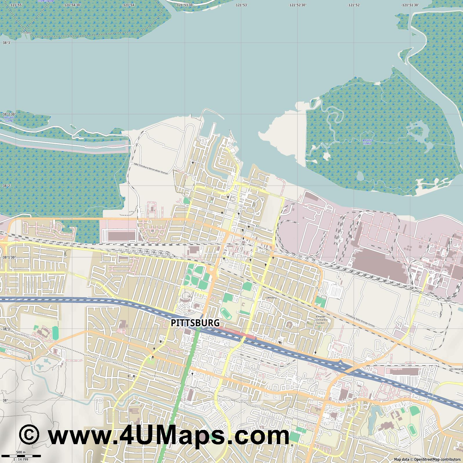 Pittsburg  jpg ultra high detail preview vector city map