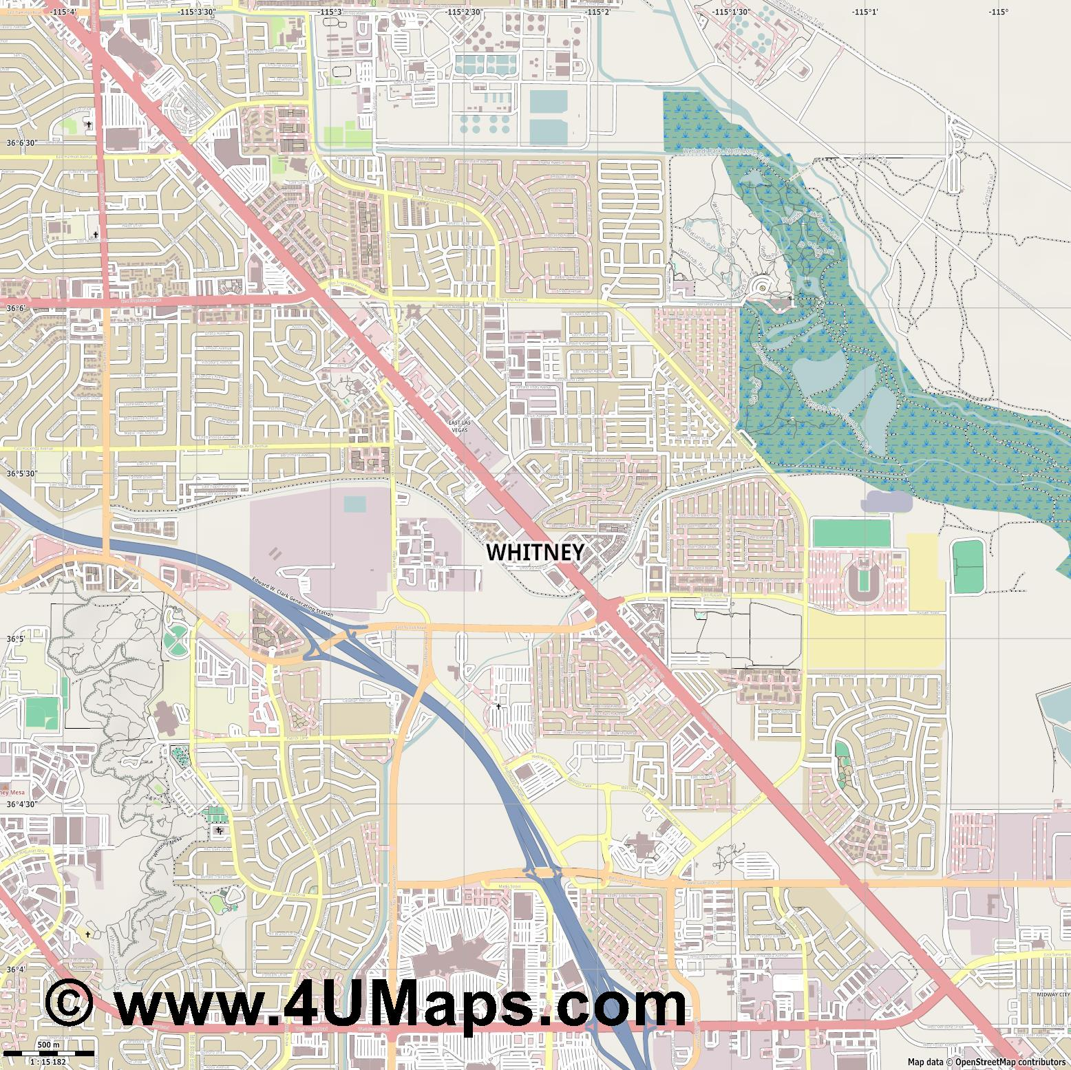 Whitney  jpg ultra high detail preview vector city map