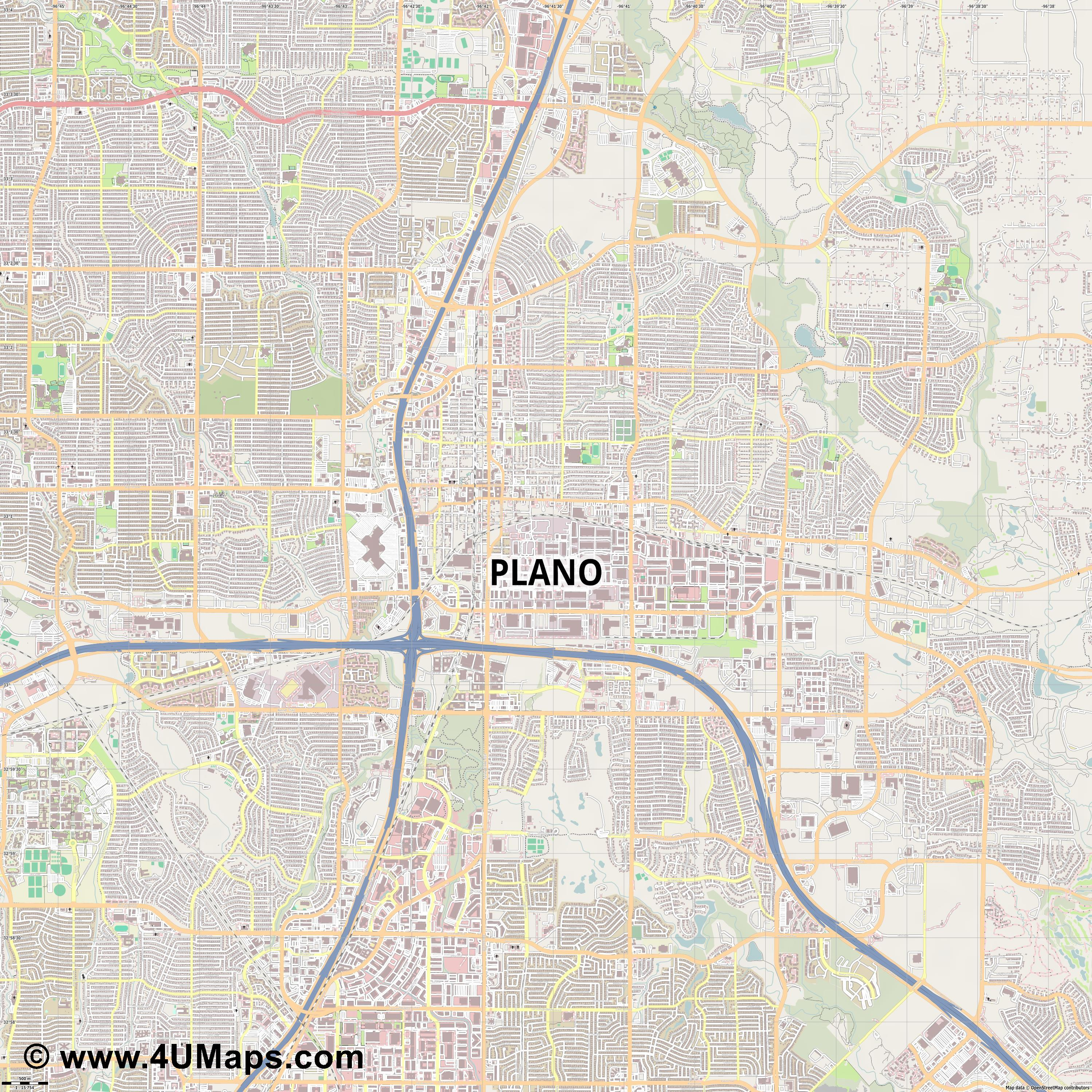 Plano  jpg ultra high detail preview vector city map