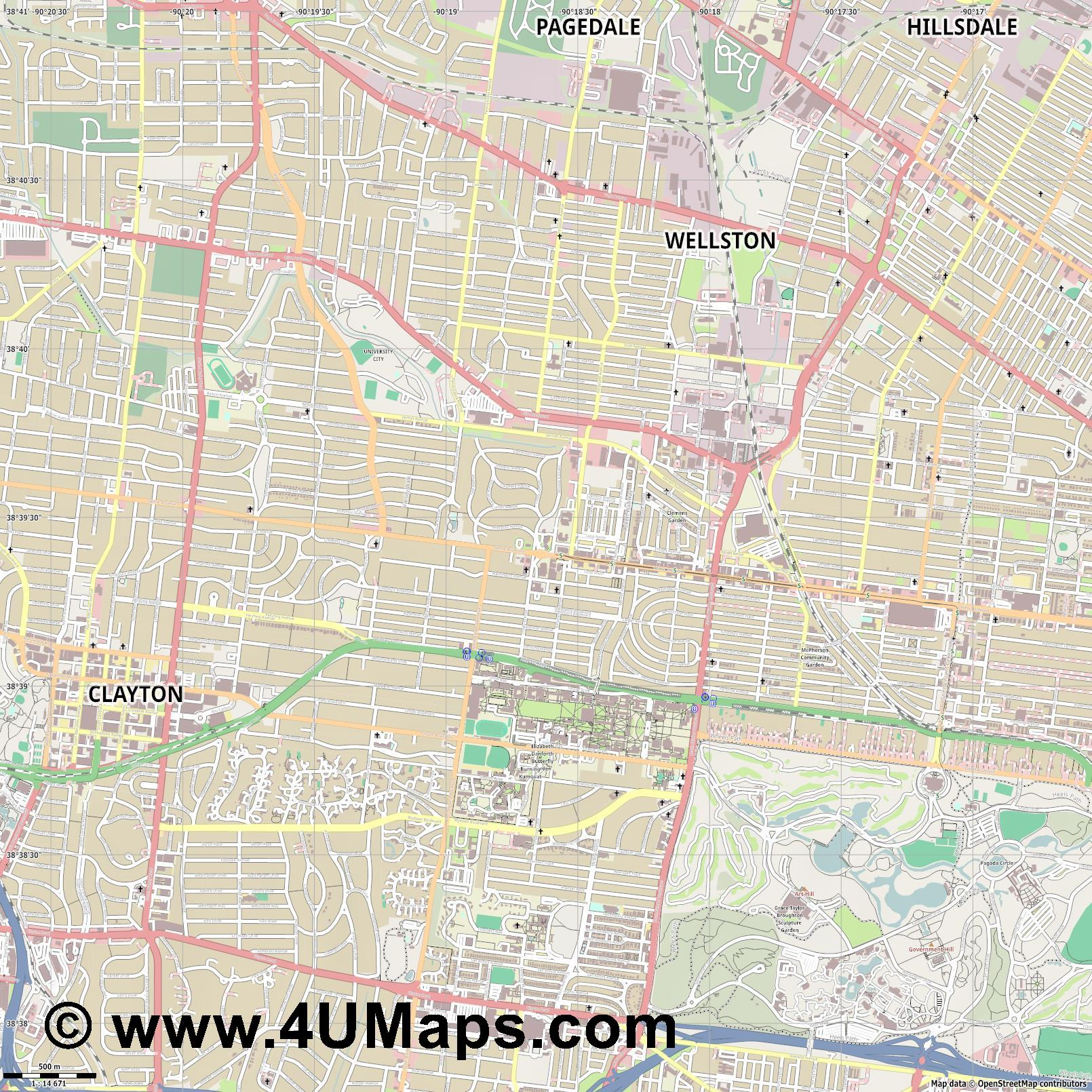 University City  jpg ultra high detail preview vector city map