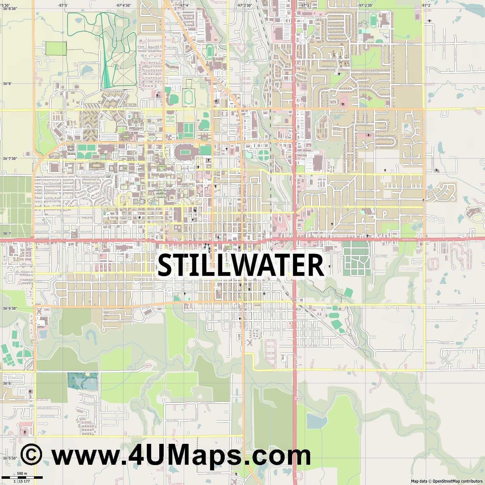 Stillwater  jpg ultra high detail preview vector city map