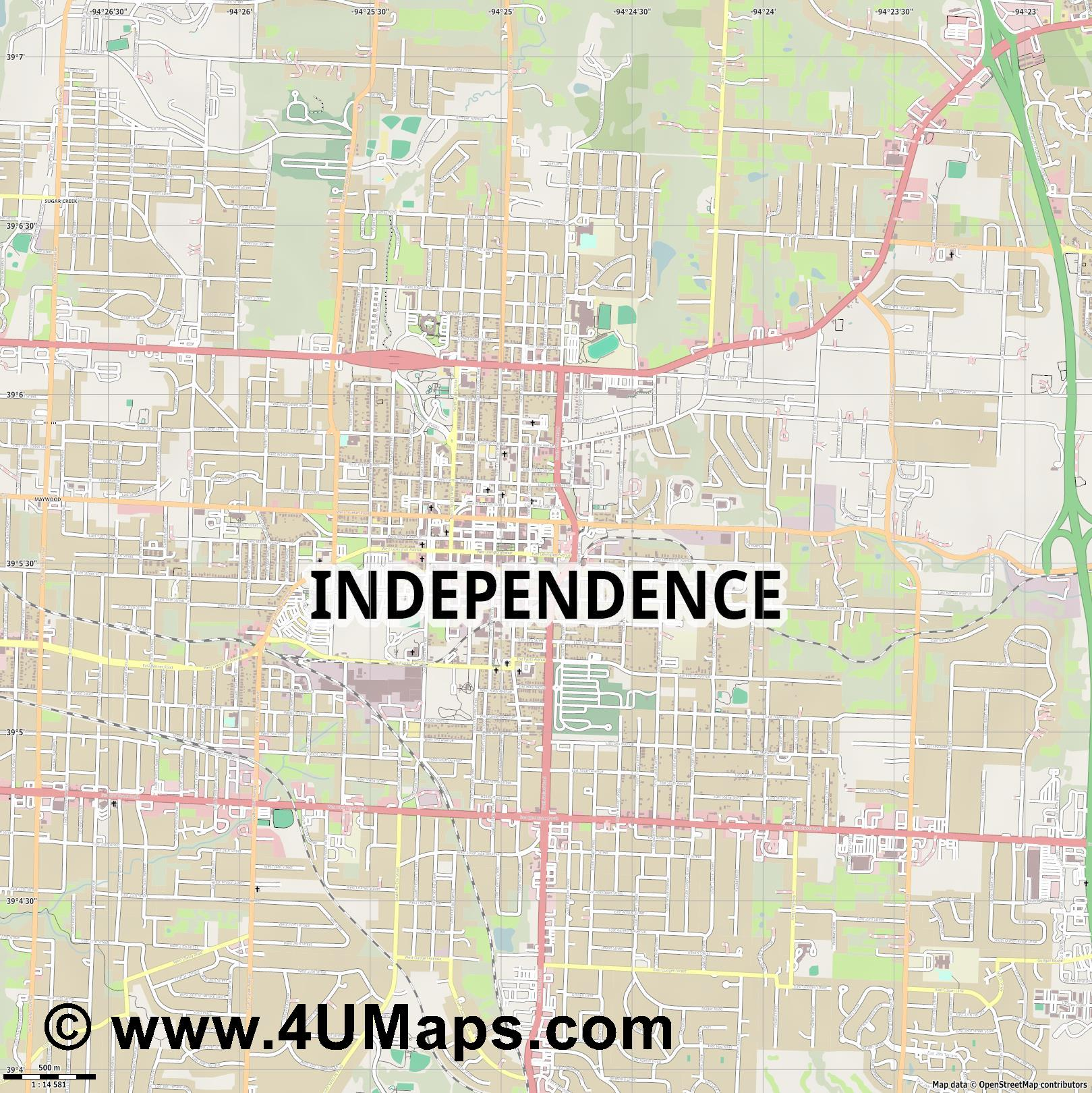 Independence  jpg ultra high detail preview vector city map