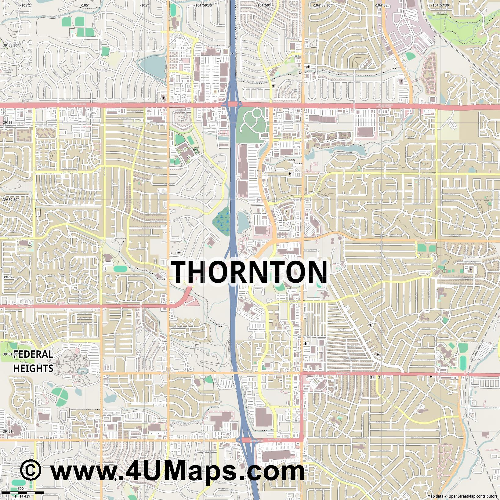 Thornton  jpg ultra high detail preview vector city map
