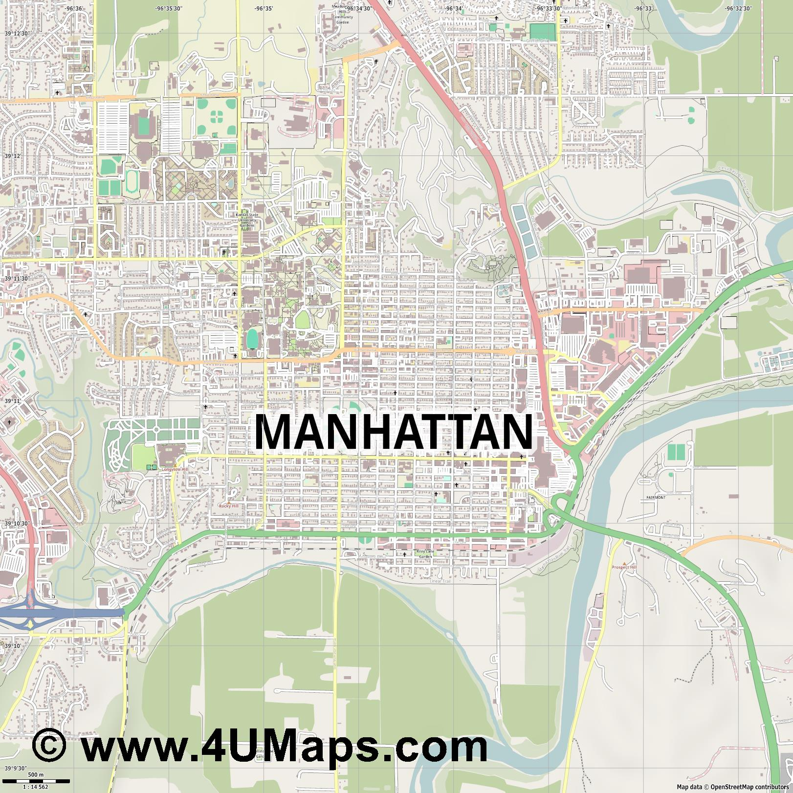 Manhattan  jpg ultra high detail preview vector city map