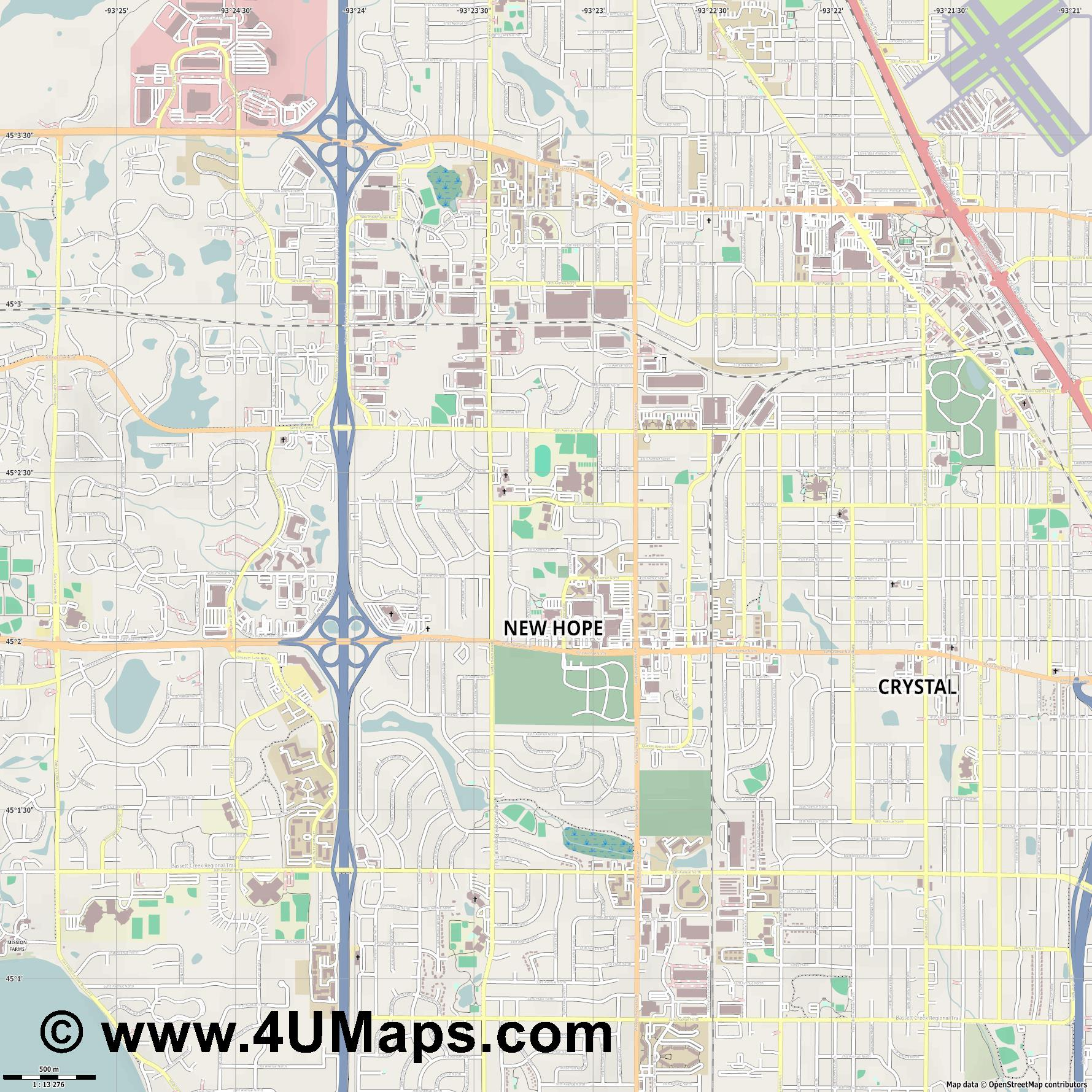 New Hope  jpg ultra high detail preview vector city map