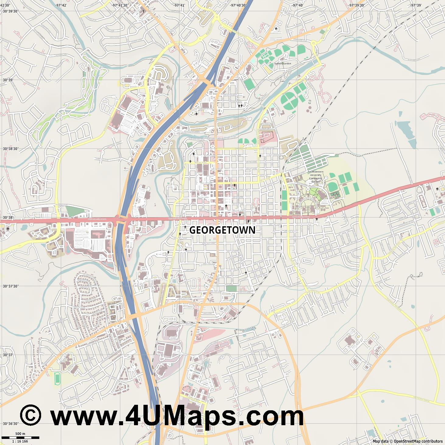 Georgetown  jpg ultra high detail preview vector city map