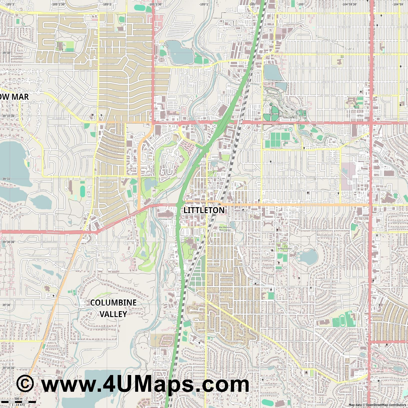 Littleton  jpg ultra high detail preview vector city map