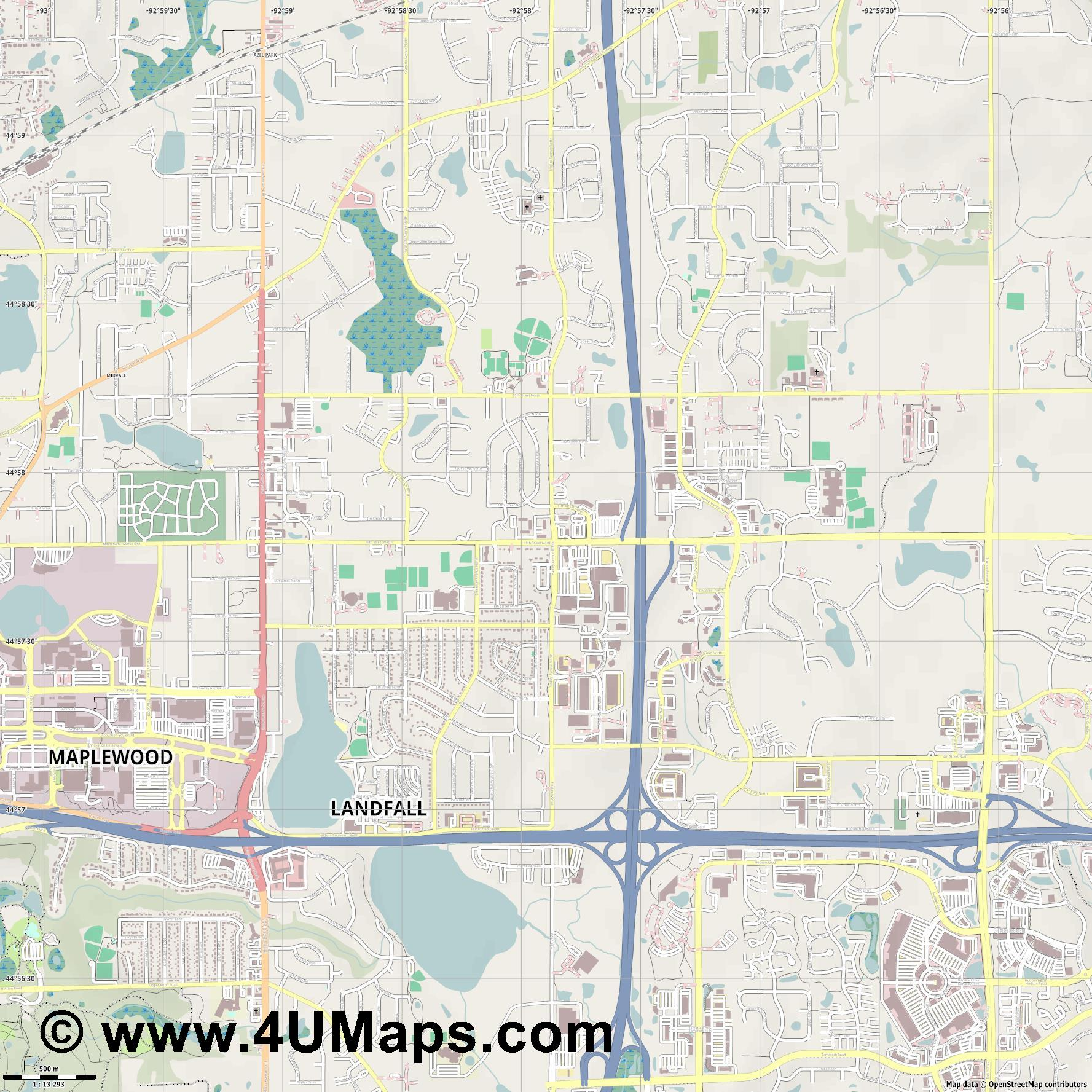 Oakdale  jpg ultra high detail preview vector city map