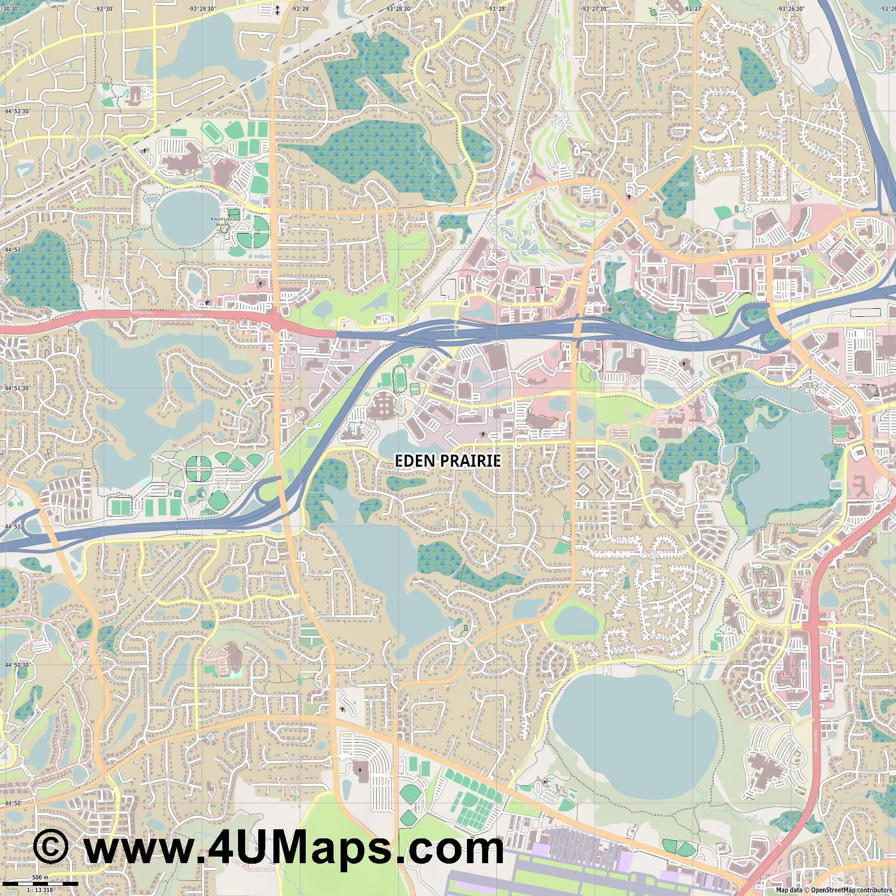 Eden Prairie  jpg ultra high detail preview vector city map