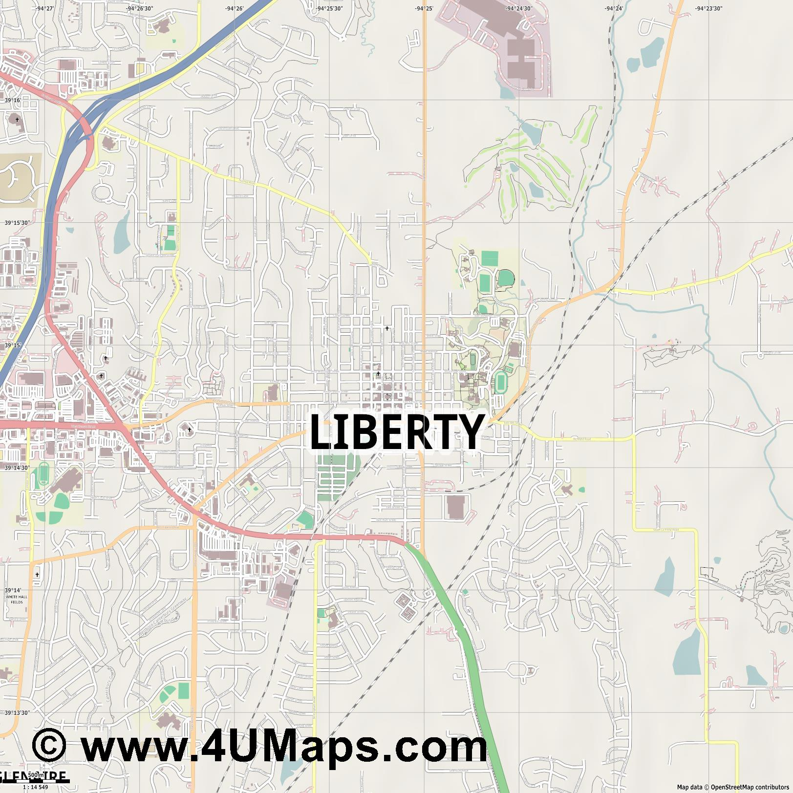 Liberty  jpg ultra high detail preview vector city map