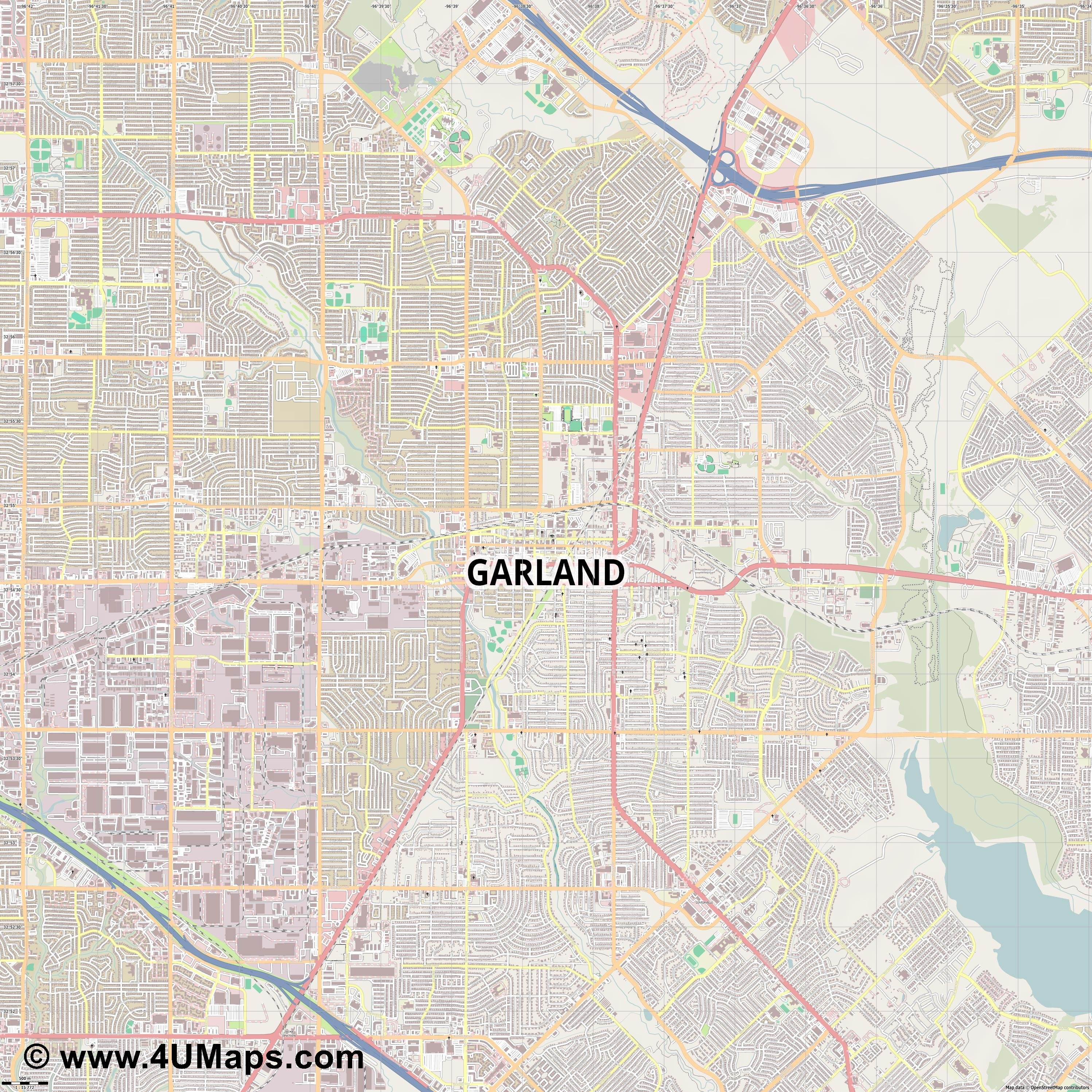 Garland  jpg ultra high detail preview vector city map