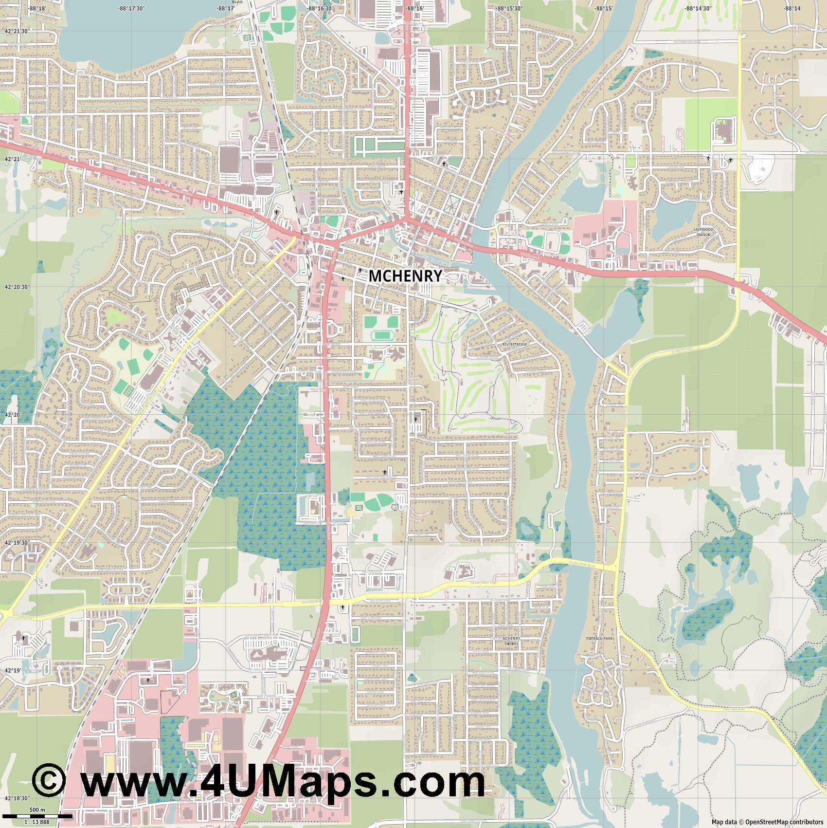 McHenry  jpg ultra high detail preview vector city map