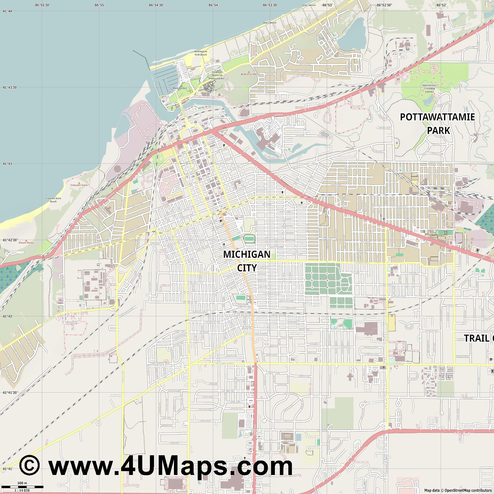 Map Of Michigan With Cities Googlw Map - Michigan cities map