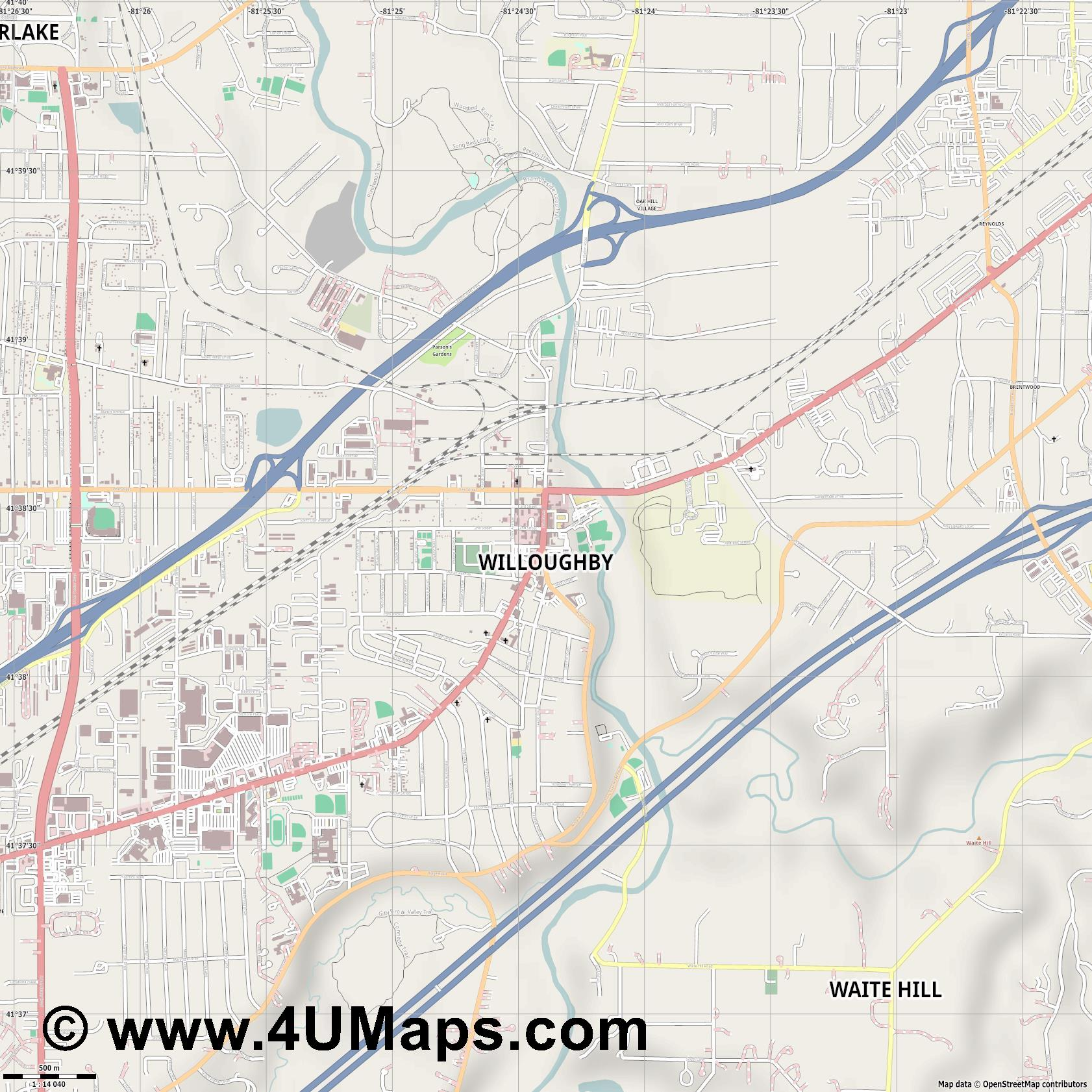 Willoughby  jpg ultra high detail preview vector city map