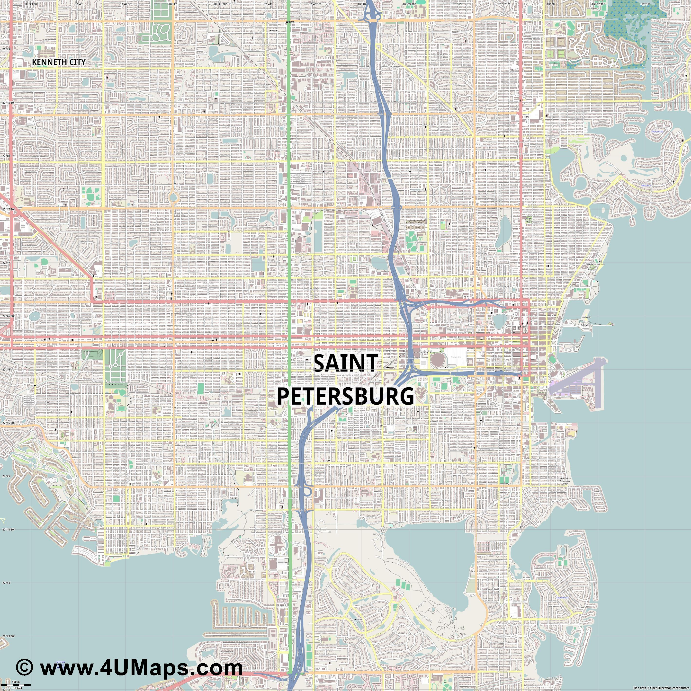 St  Petersburg Saint Petersburg  jpg ultra high detail preview vector city map
