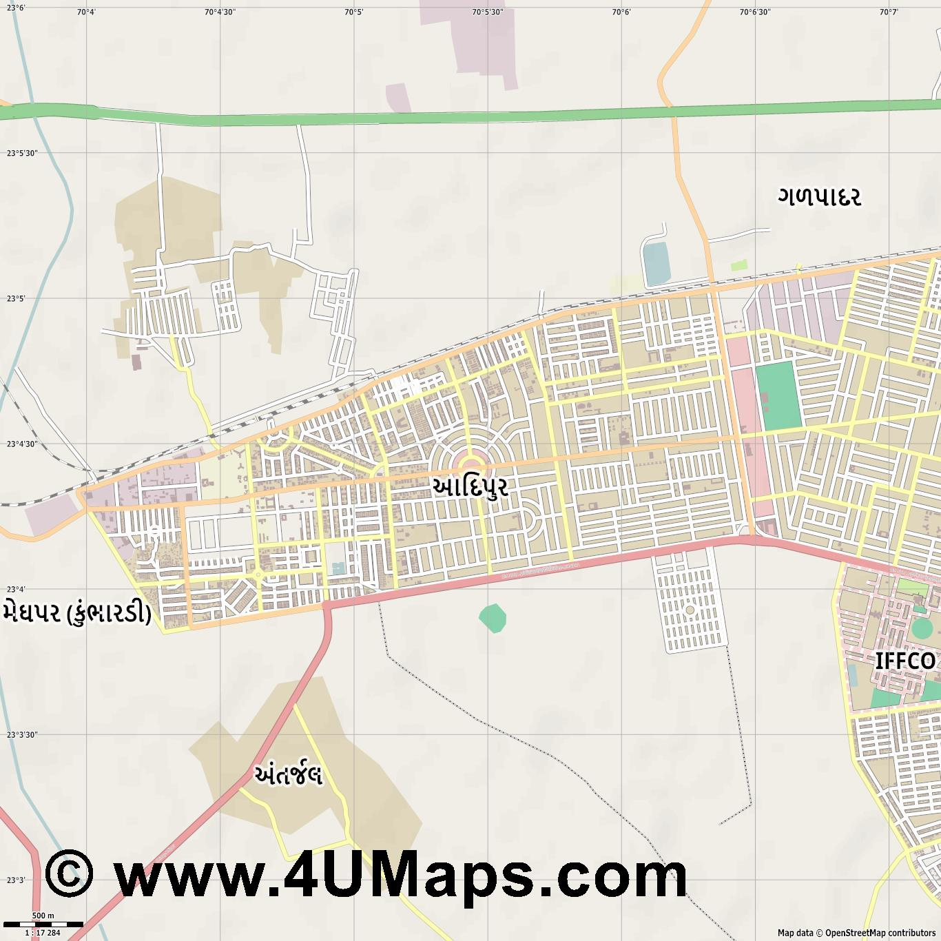 Adipur  jpg ultra high detail preview vector city map