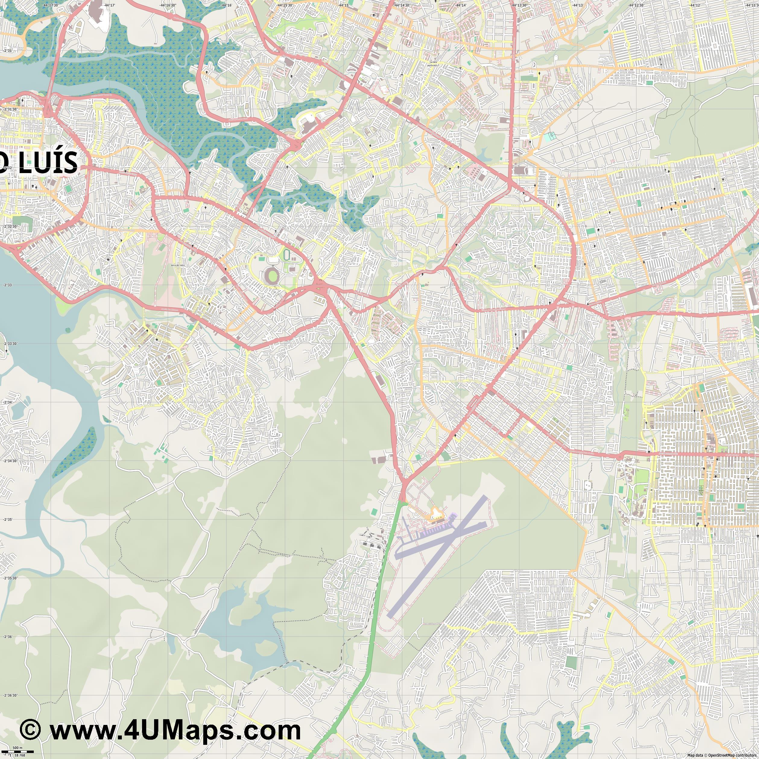 São Luís San Luis  jpg ultra high detail preview vector city map