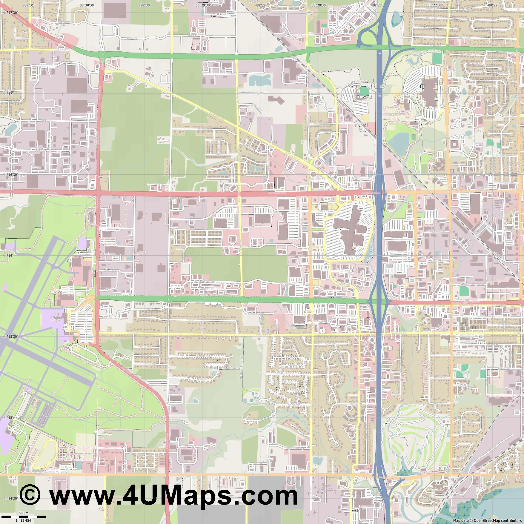 Grand Chute  jpg ultra high detail preview vector city map