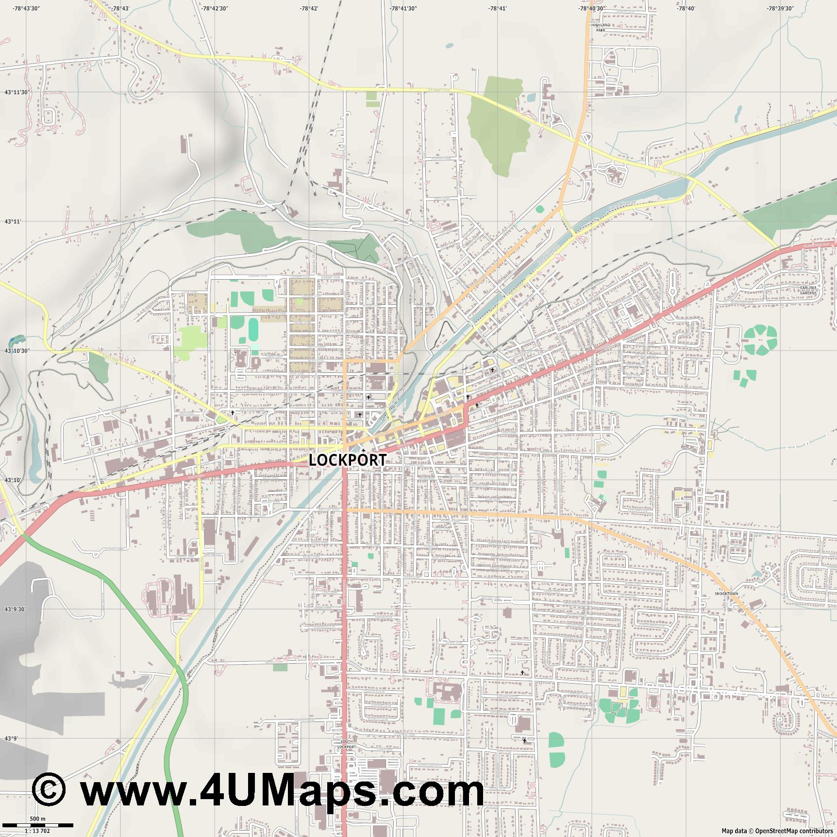 Lockport  jpg ultra high detail preview vector city map