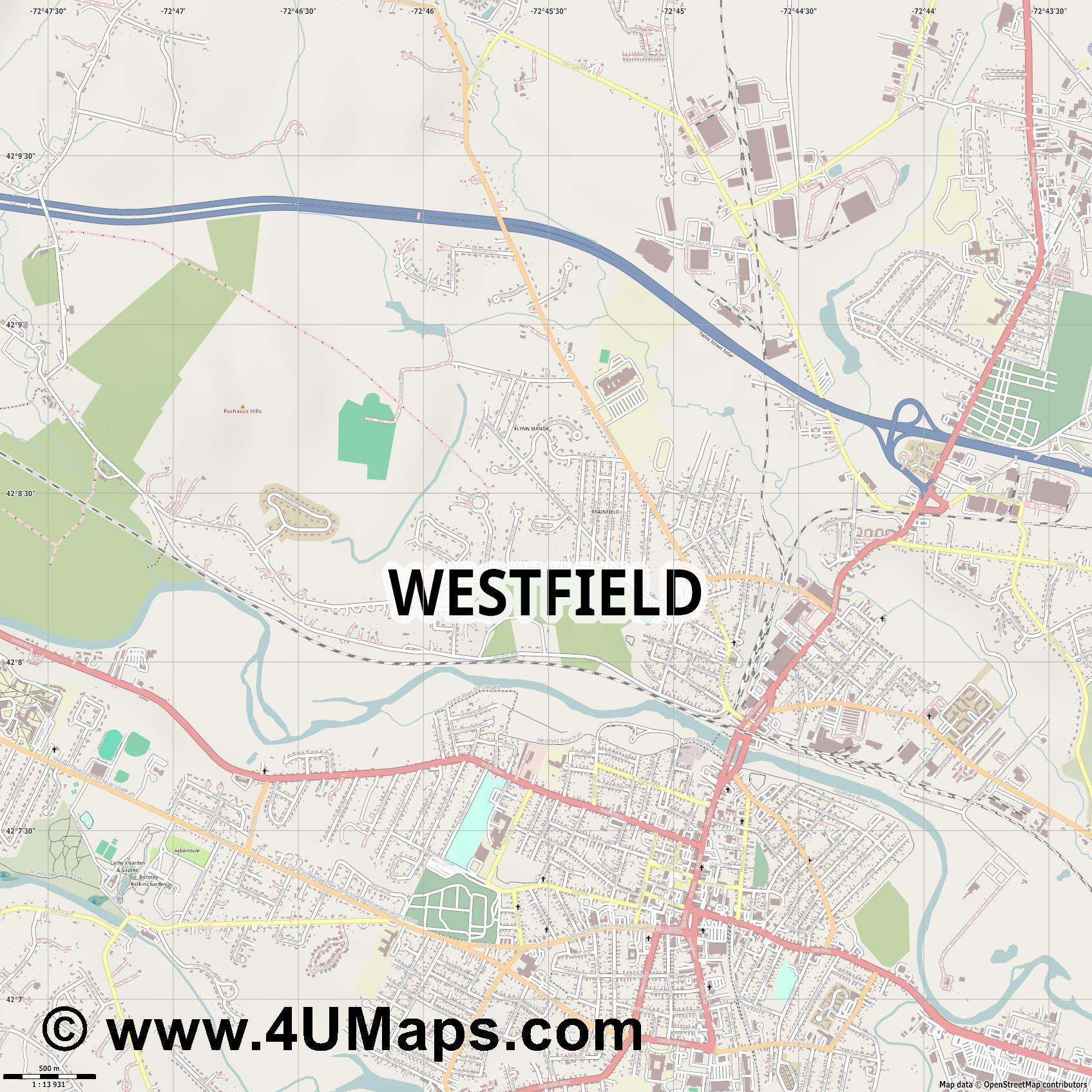 Westfield  jpg ultra high detail preview vector city map