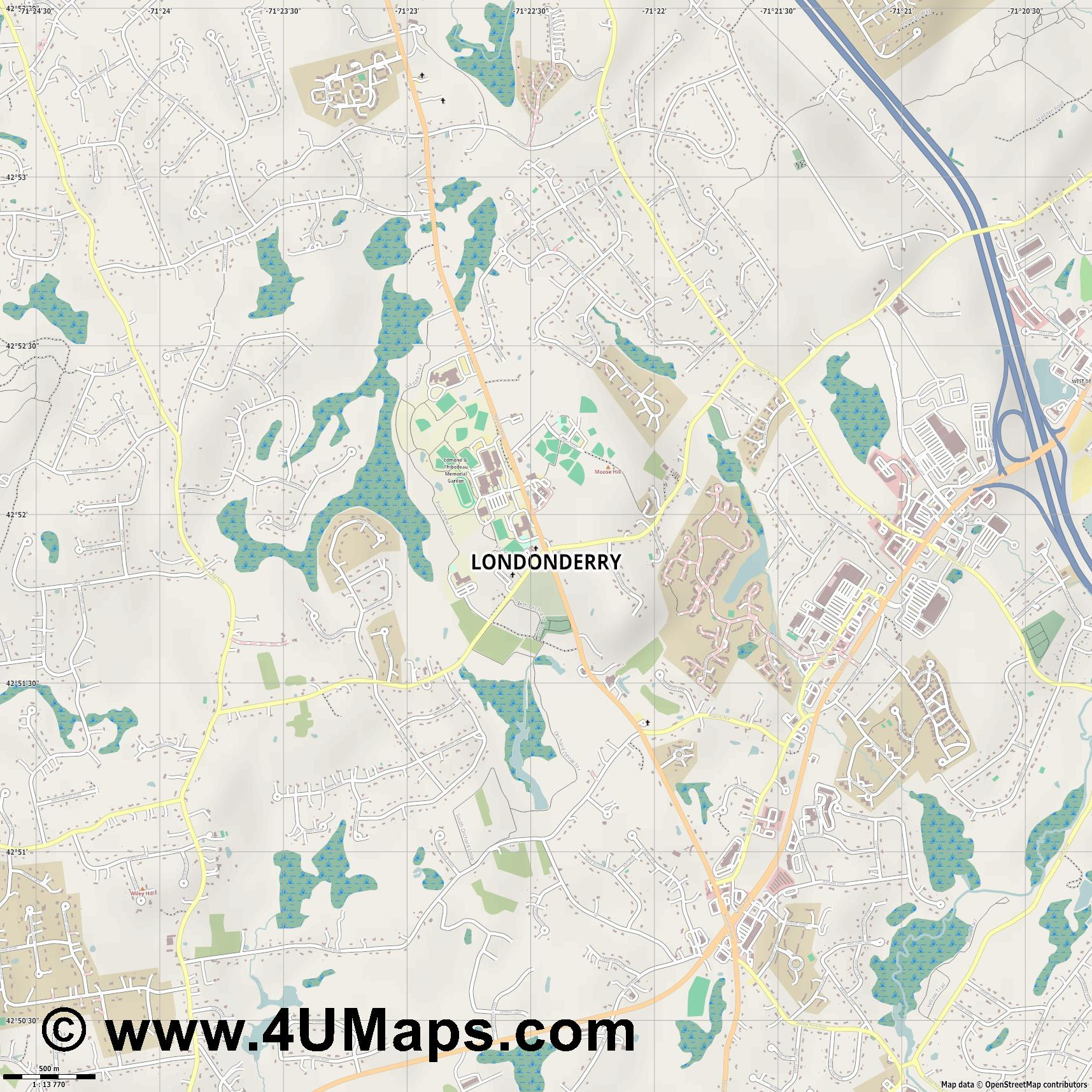 Londonderry  jpg ultra high detail preview vector city map