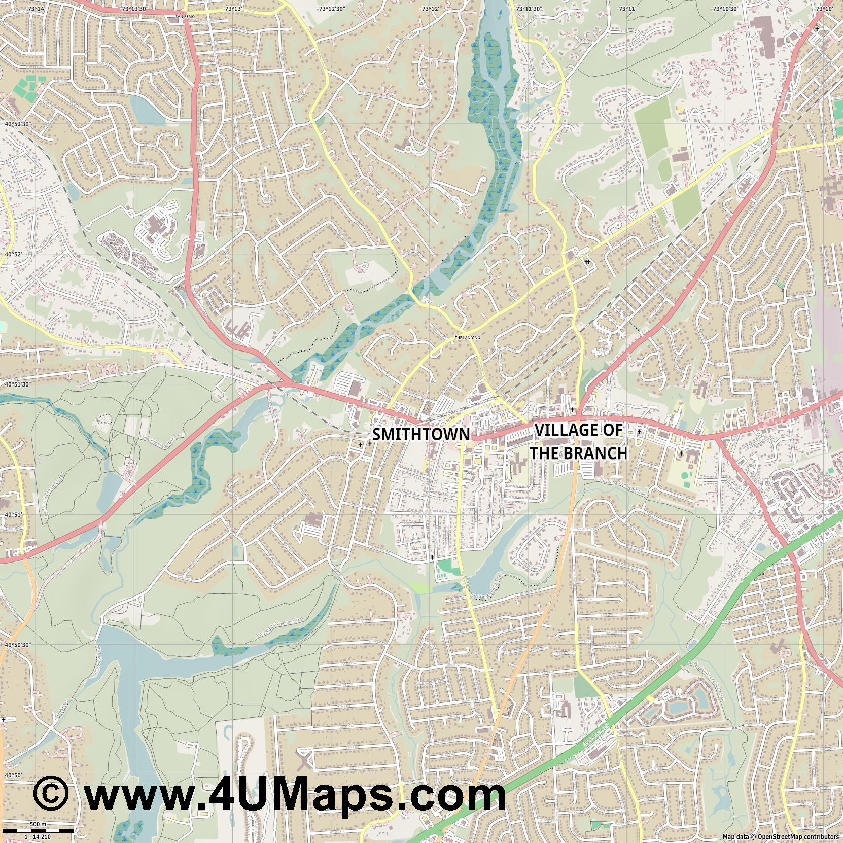 Smithtown  jpg ultra high detail preview vector city map