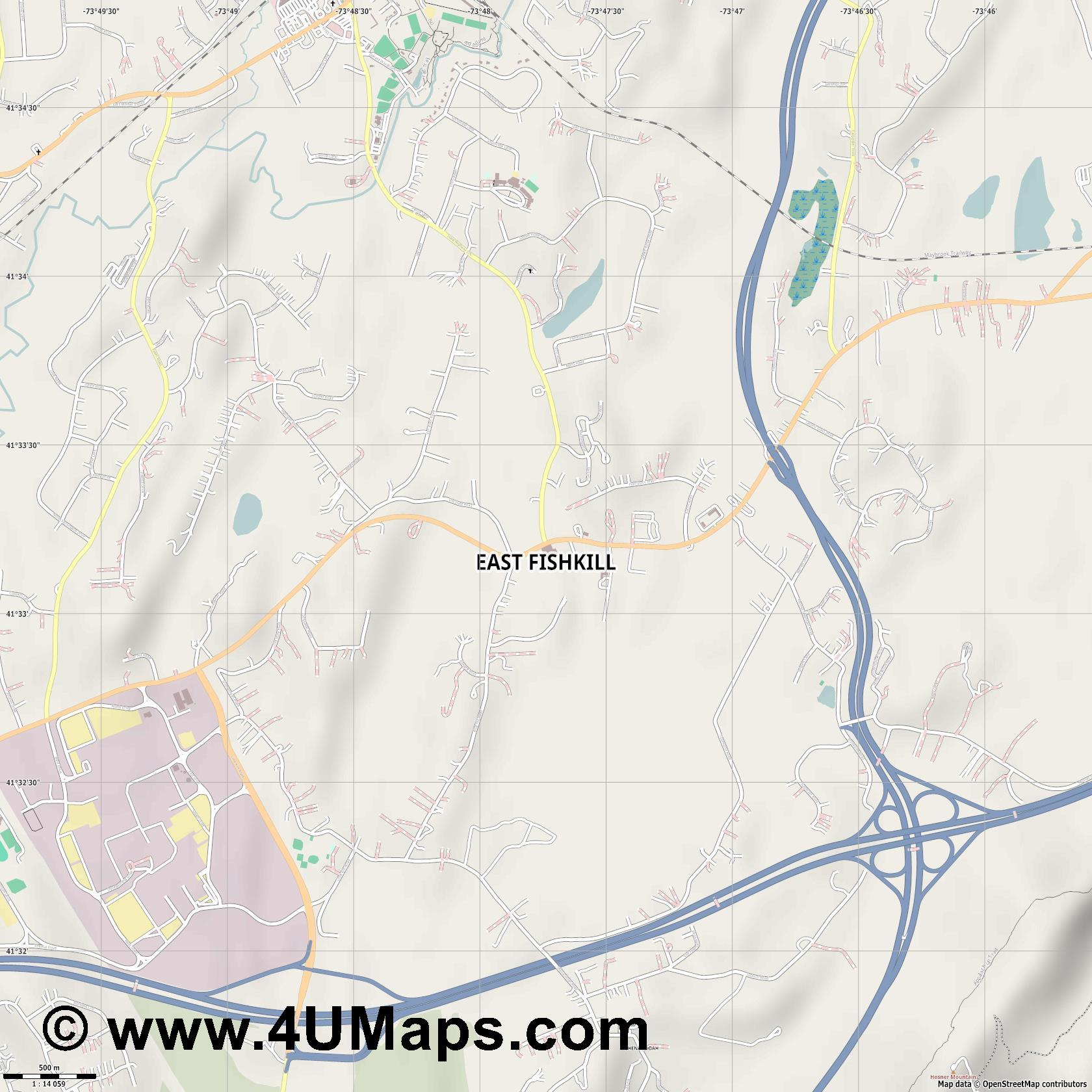 East Fishkill  jpg ultra high detail preview vector city map