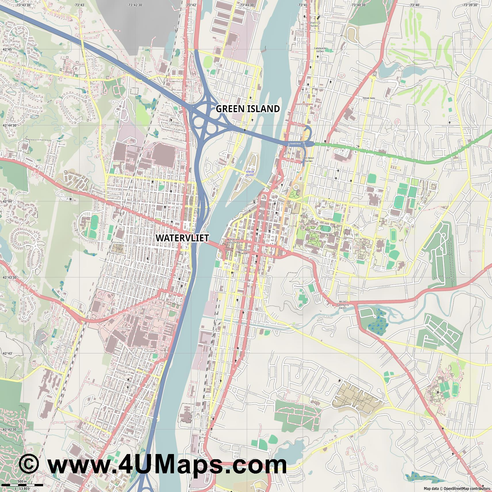 Troy  jpg ultra high detail preview vector city map