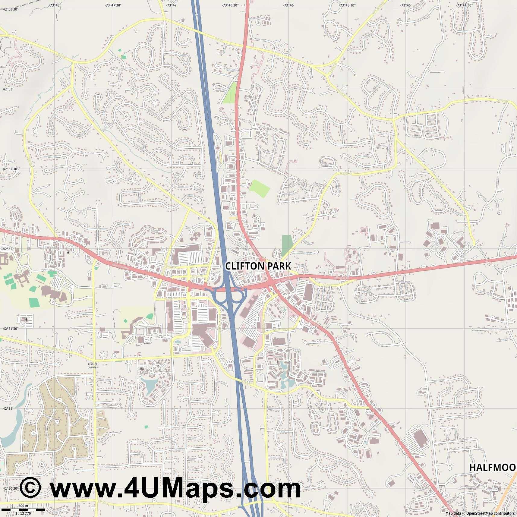 Clifton Park  jpg ultra high detail preview vector city map