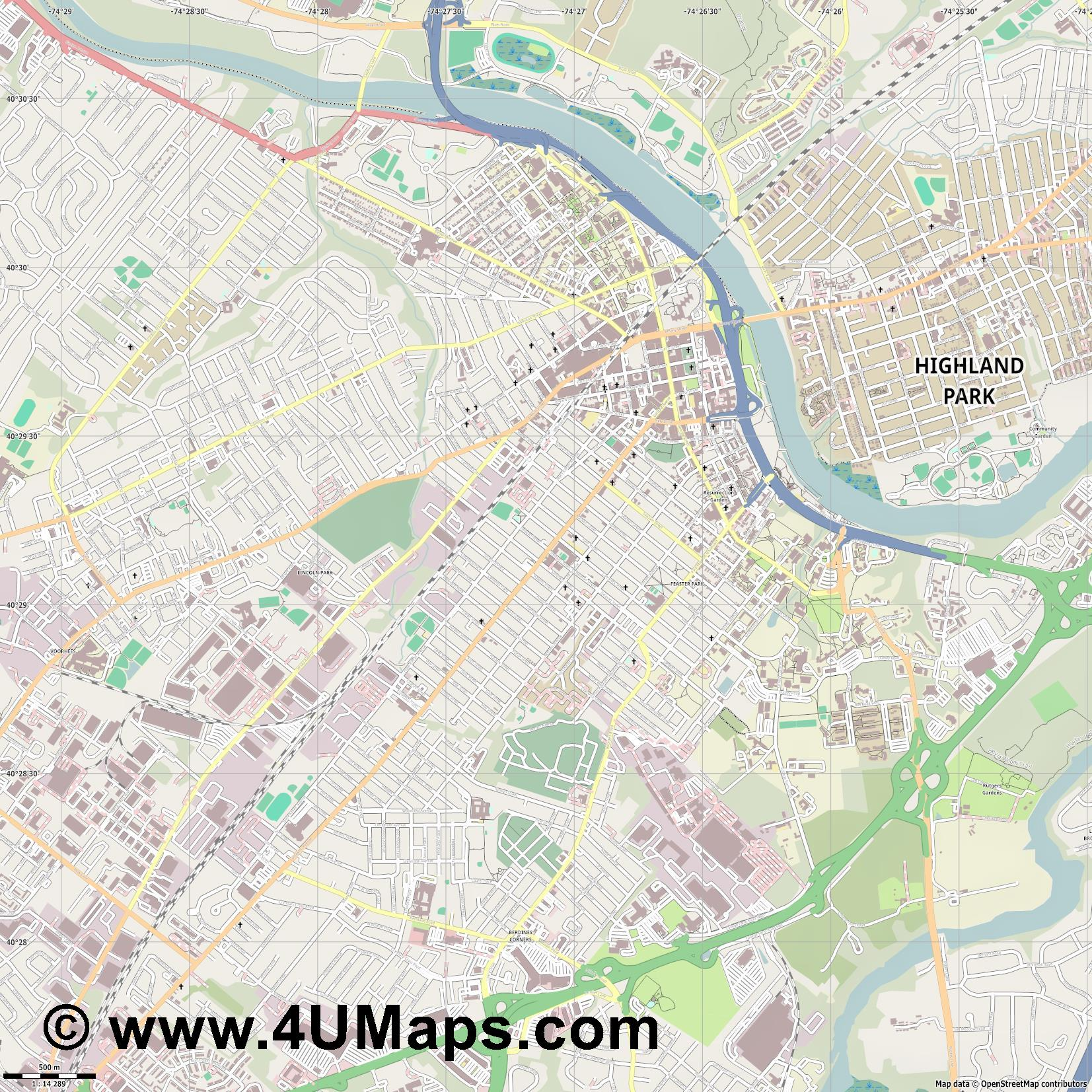 New Brunswick  jpg ultra high detail preview vector city map