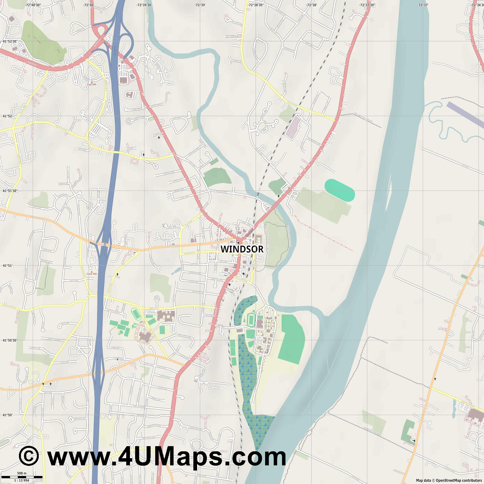 Windsor  jpg ultra high detail preview vector city map