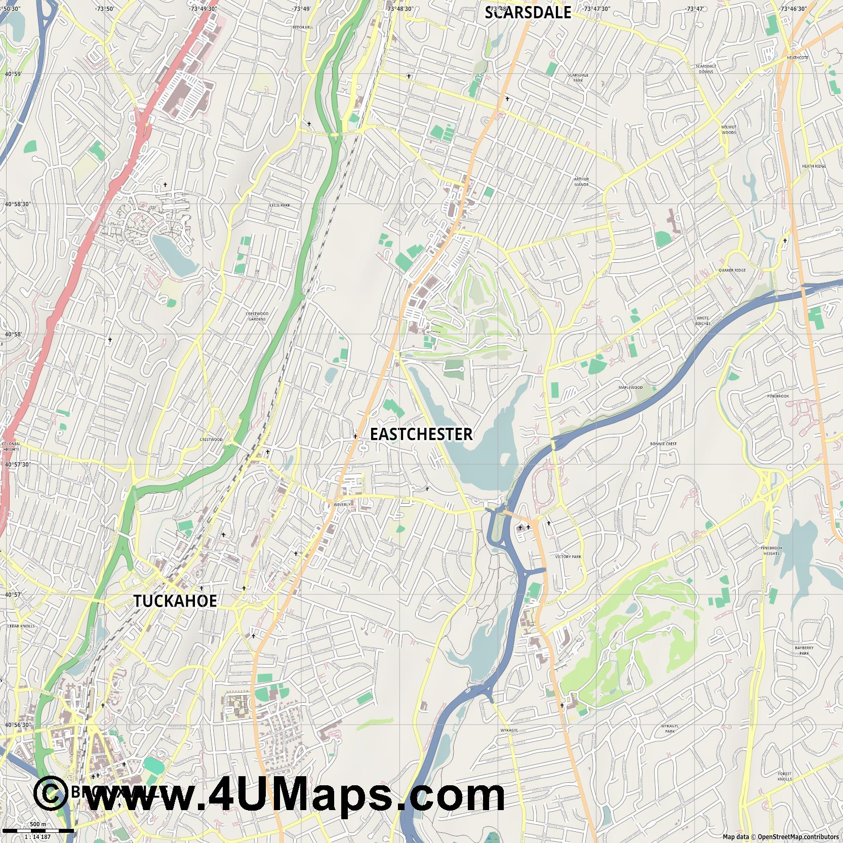 Eastchester  jpg ultra high detail preview vector city map
