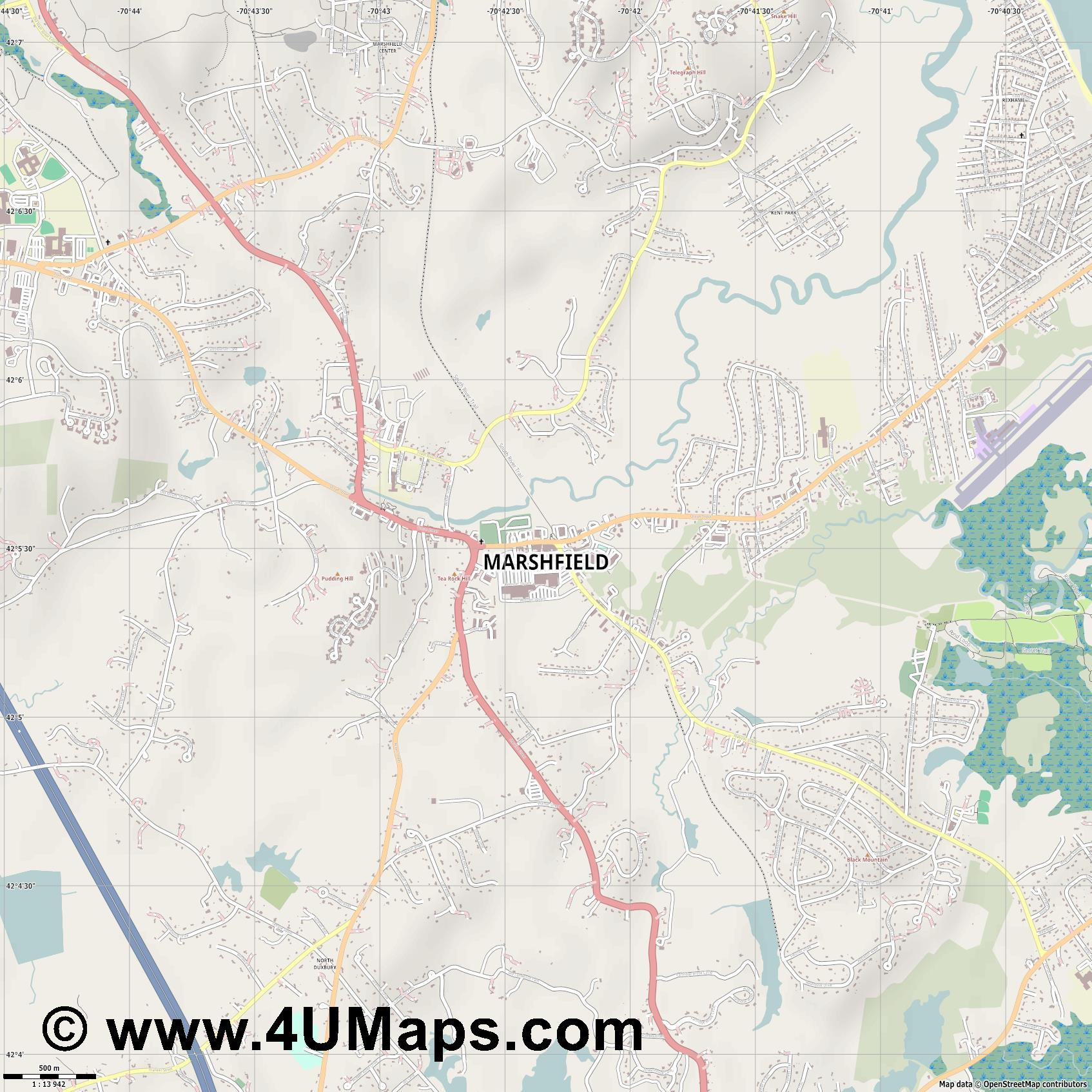 Marshfield  jpg ultra high detail preview vector city map