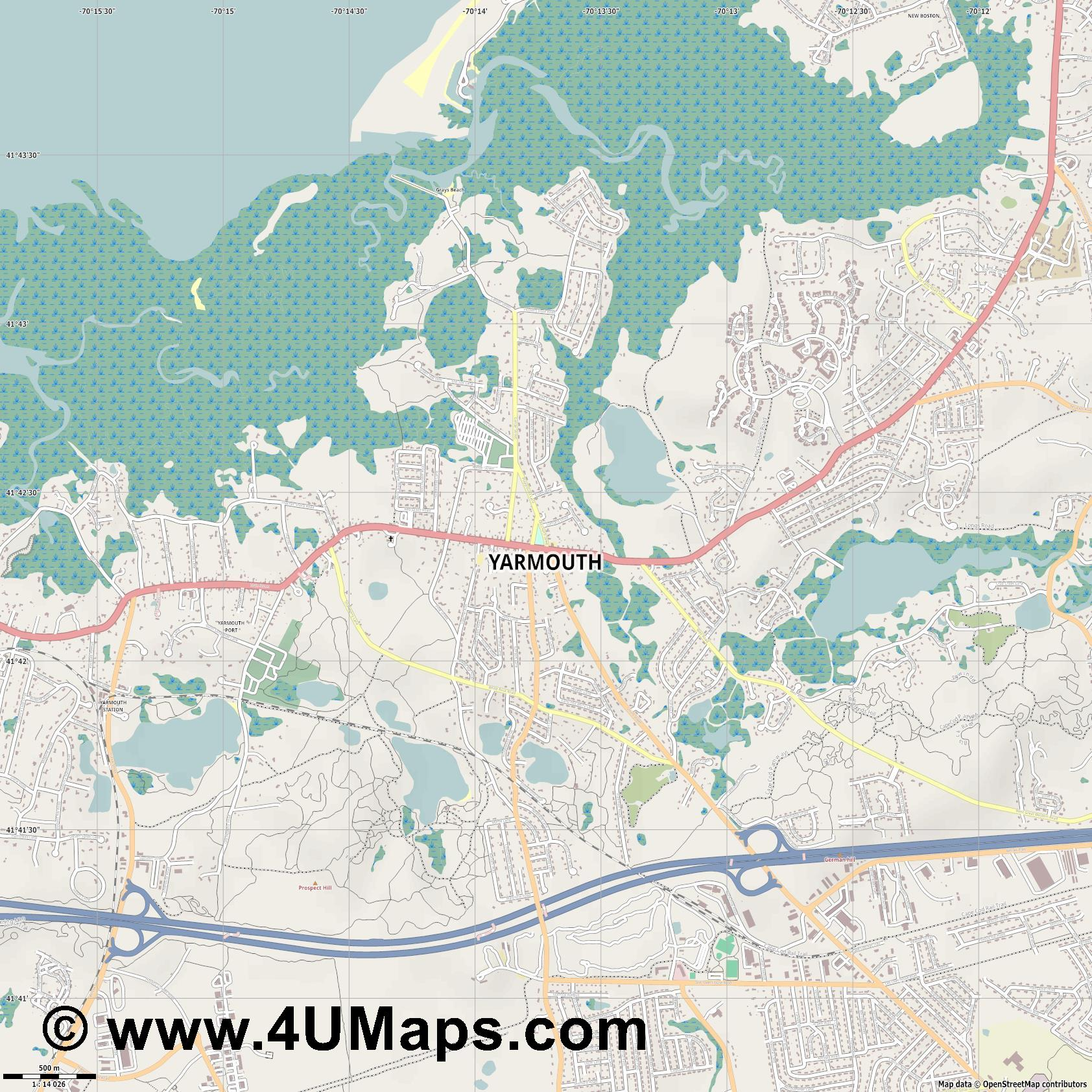 Yarmouth  jpg ultra high detail preview vector city map
