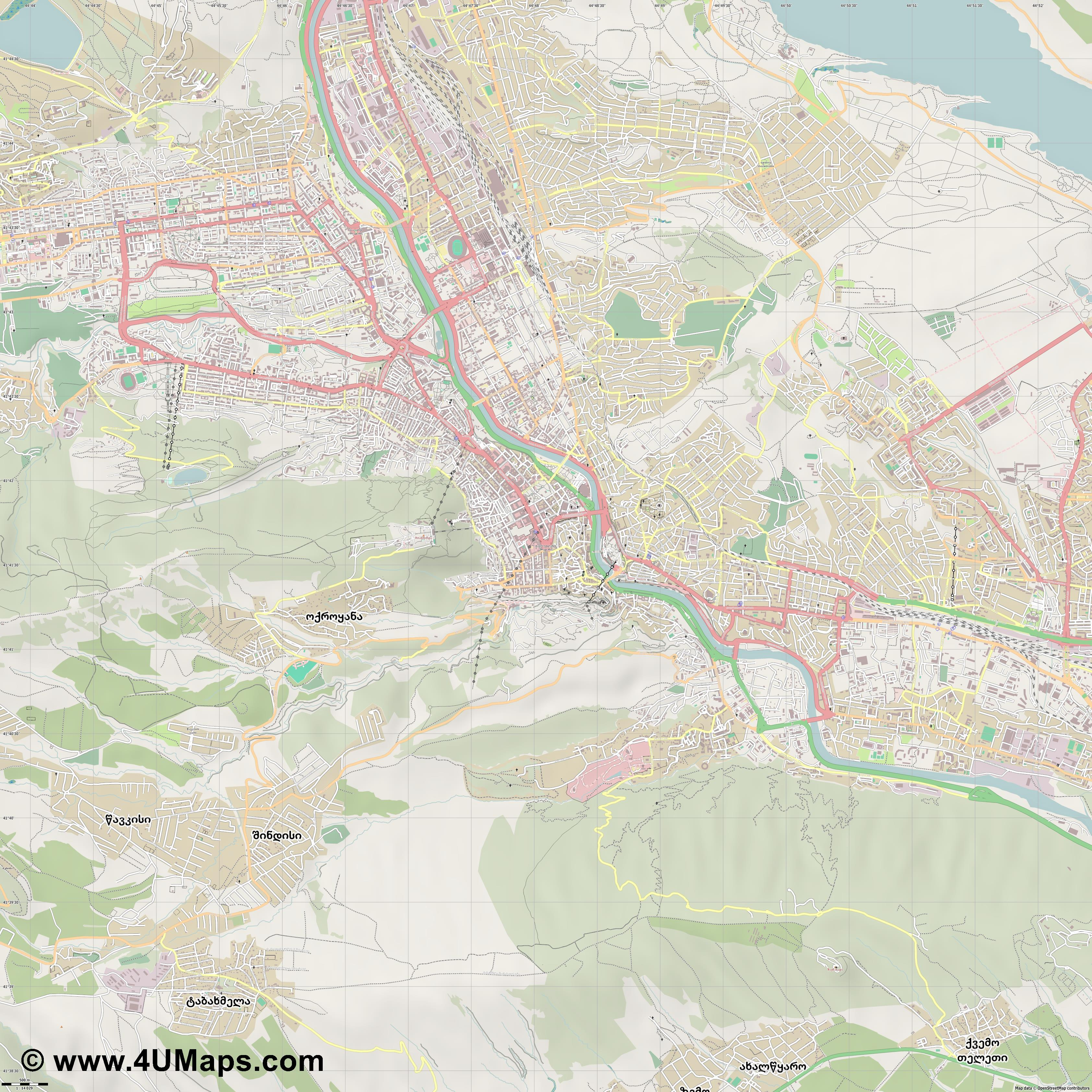 თბილისი  Tbilisi  Tiflis Tbilissi  jpg ultra high detail preview vector city map