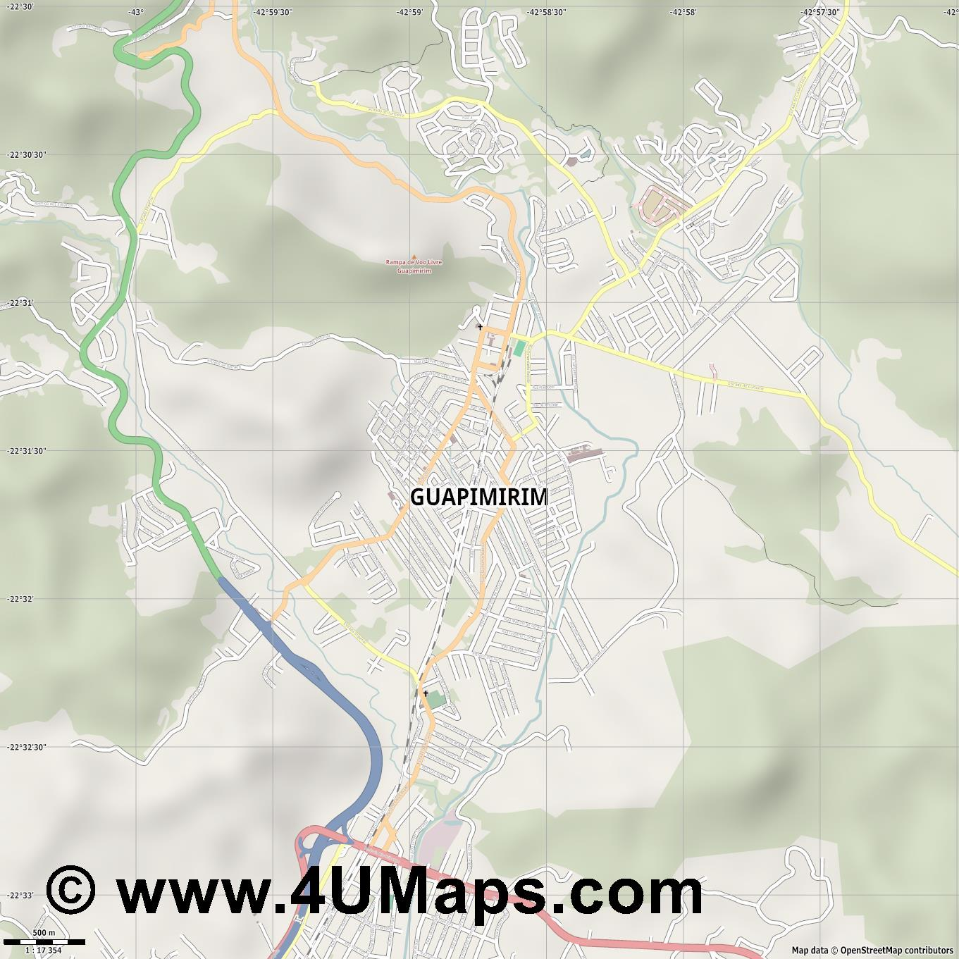 Guapimirim  jpg ultra high detail preview vector city map